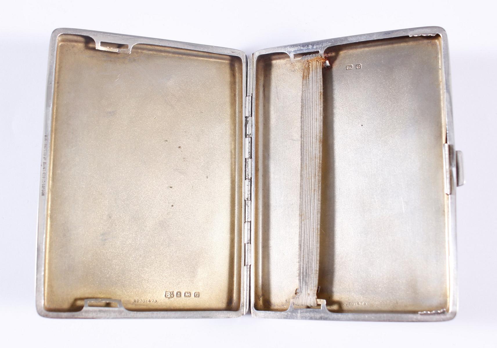 Silbernes Zigarettenetui, Birmingham / England 1931-3