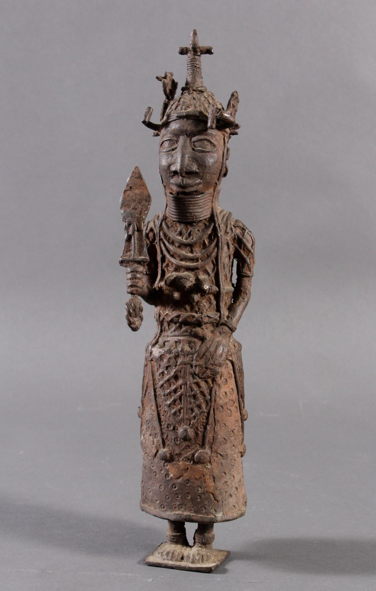 Benin/Afrika, Bronzefigur