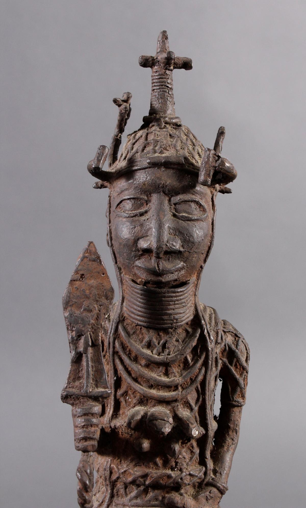 Benin/Afrika, Bronzefigur-2