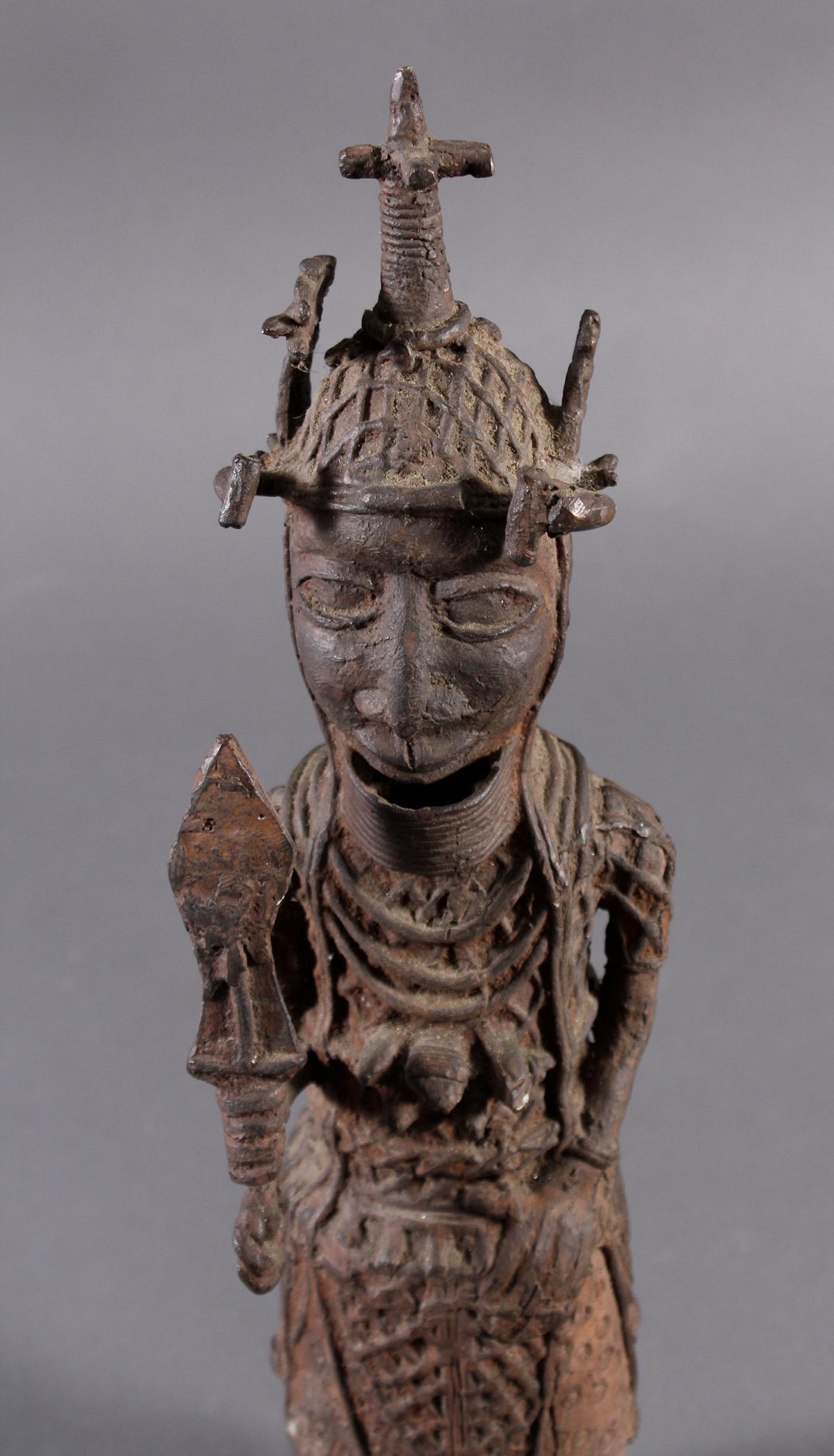 Benin/Afrika, Bronzefigur-3