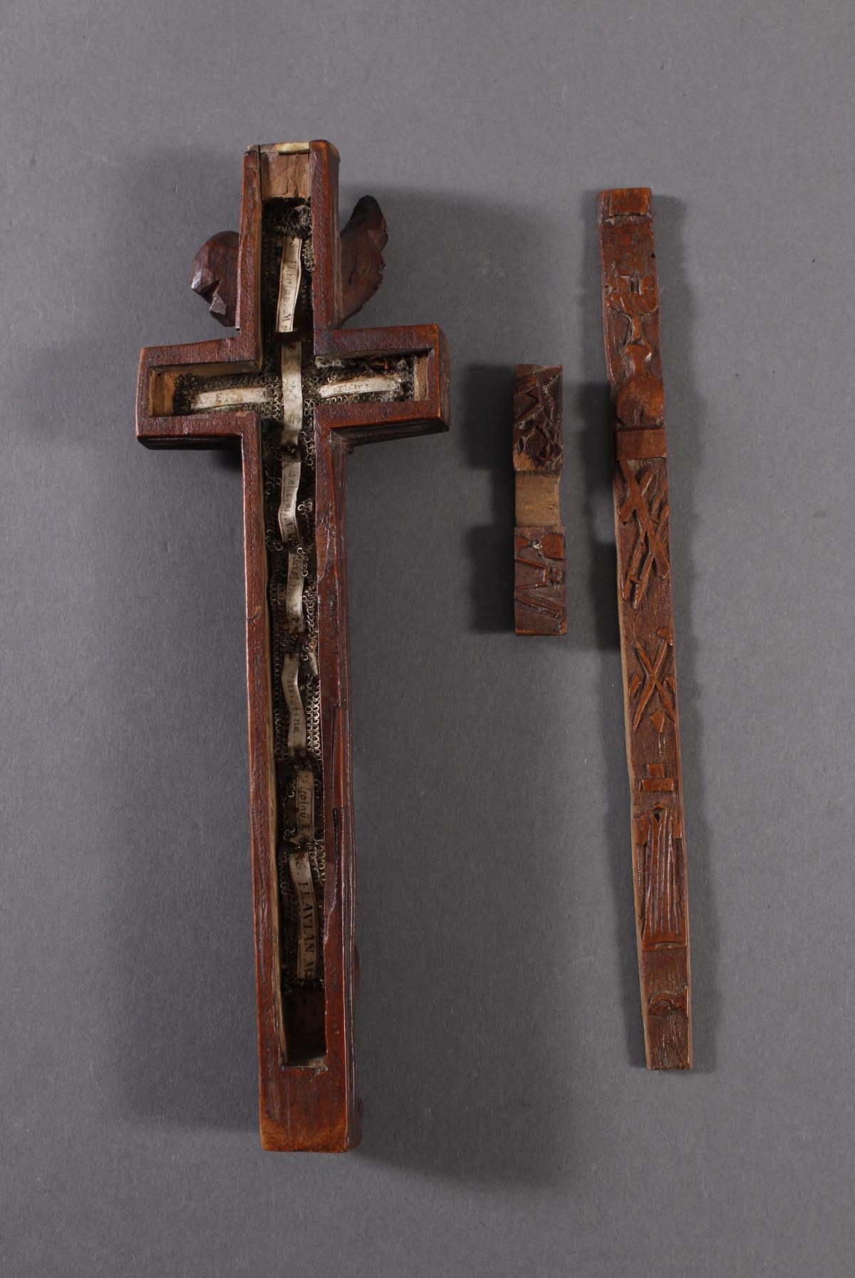 Reliquienkreuz, Deutschland 17. / 18. Jahrhundert-3