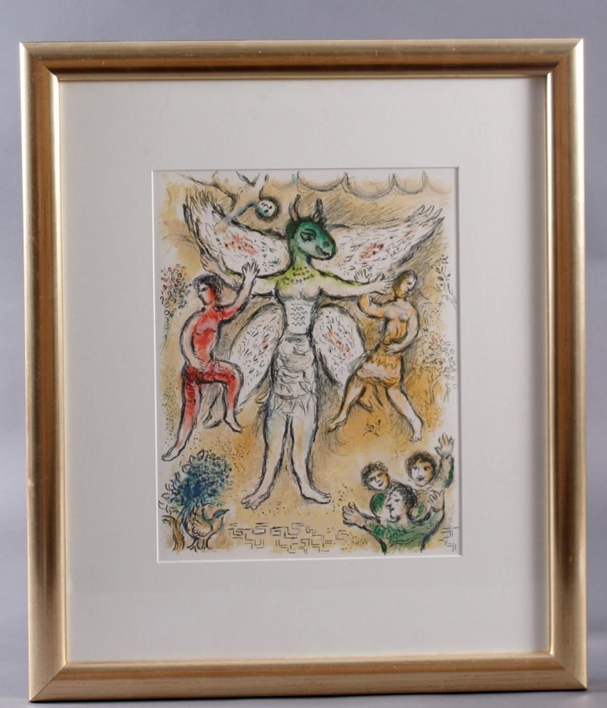 Marc Chagall, Farblithografie aus der Odyssee