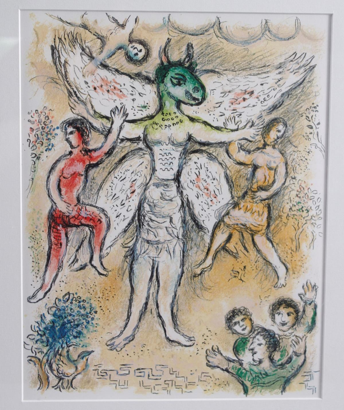 Marc Chagall, Farblithografie aus der Odyssee-2