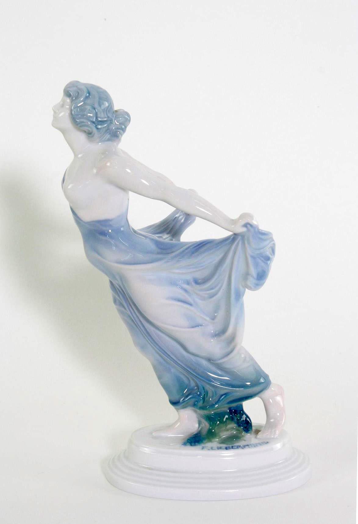 Porzellanskulptur, 'Tänzerin', Rosenthal, Kunst-Abteilung, 1920er Jahre