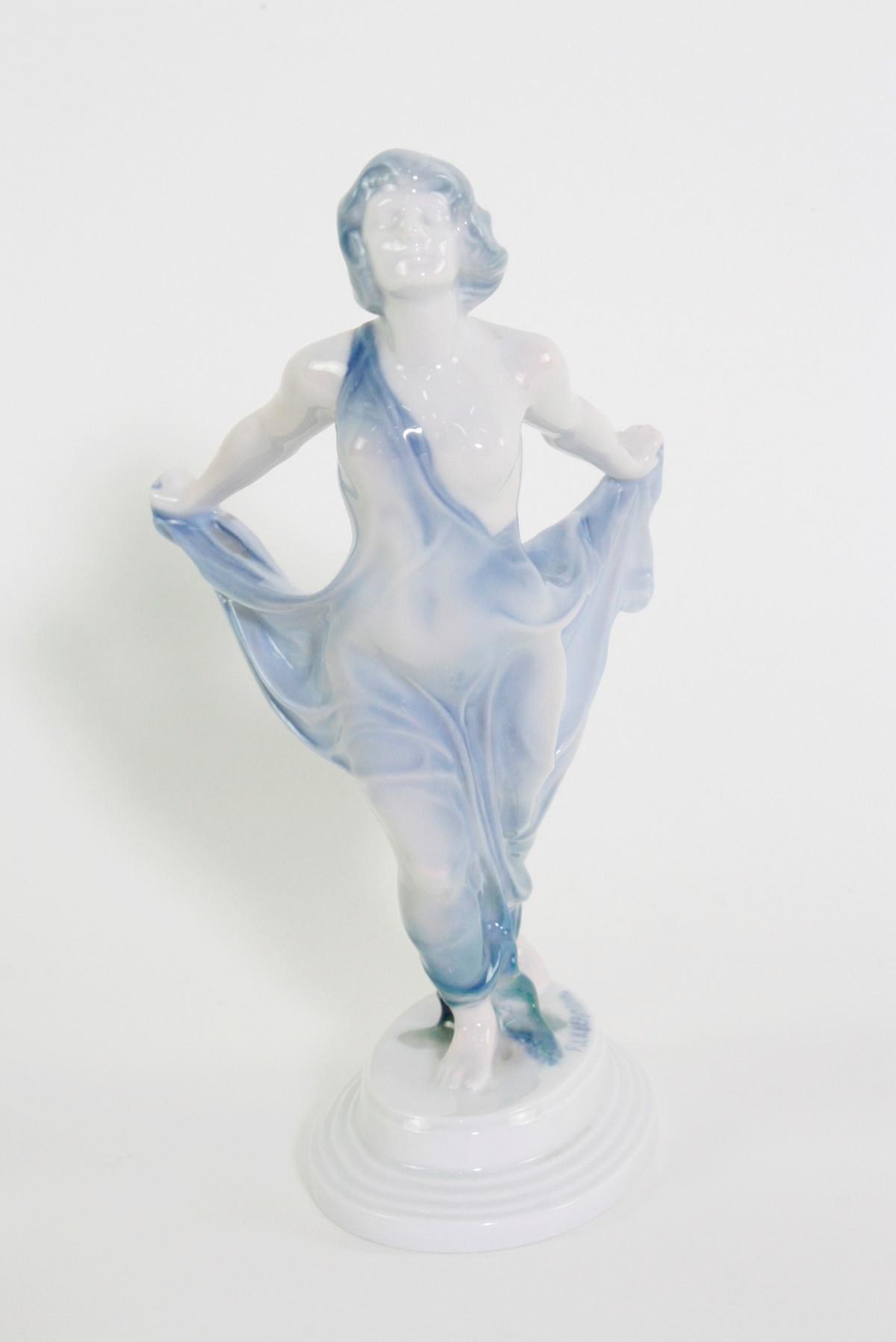 Porzellanskulptur, 'Tänzerin', Rosenthal, Kunst-Abteilung, 1920er Jahre-2