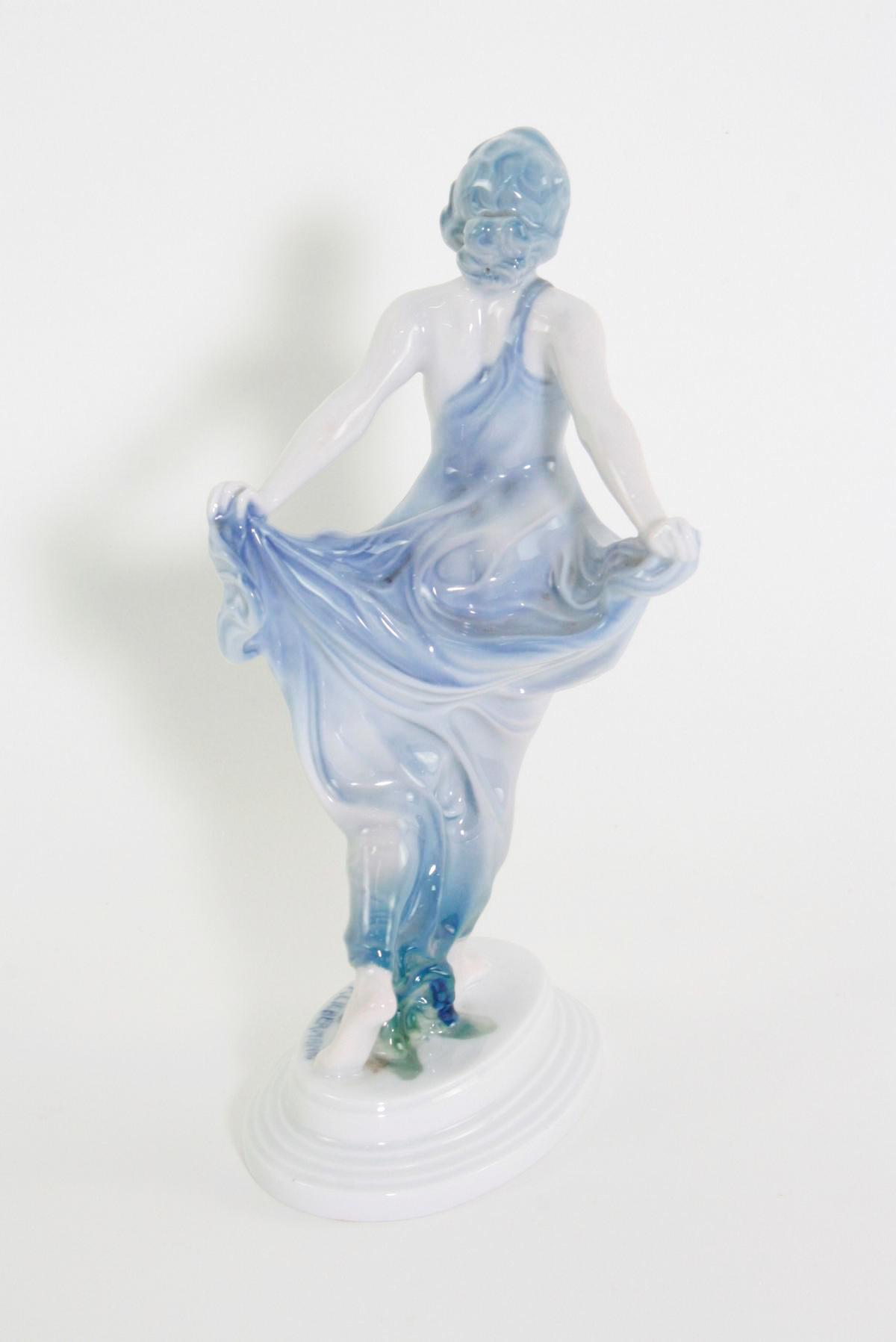 Porzellanskulptur, 'Tänzerin', Rosenthal, Kunst-Abteilung, 1920er Jahre-4