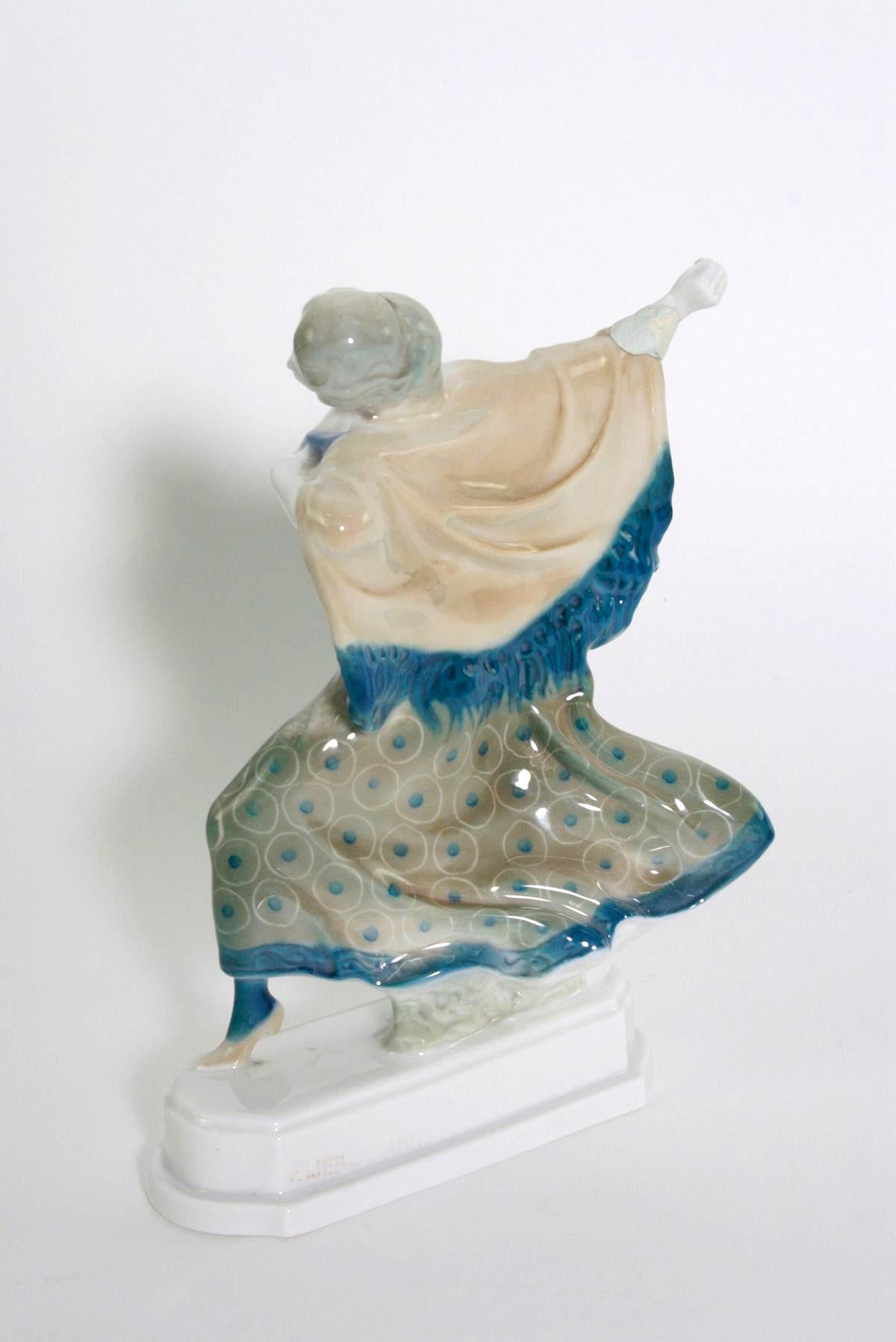 Porzellanskulptur, 'Tänzerin, Carmen', Rosenthal, Kunst-Abteilung, 1920er Jahre-3
