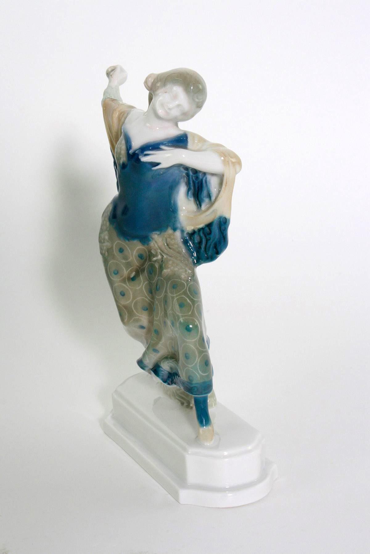 Porzellanskulptur, 'Tänzerin, Carmen', Rosenthal, Kunst-Abteilung, 1920er Jahre-4