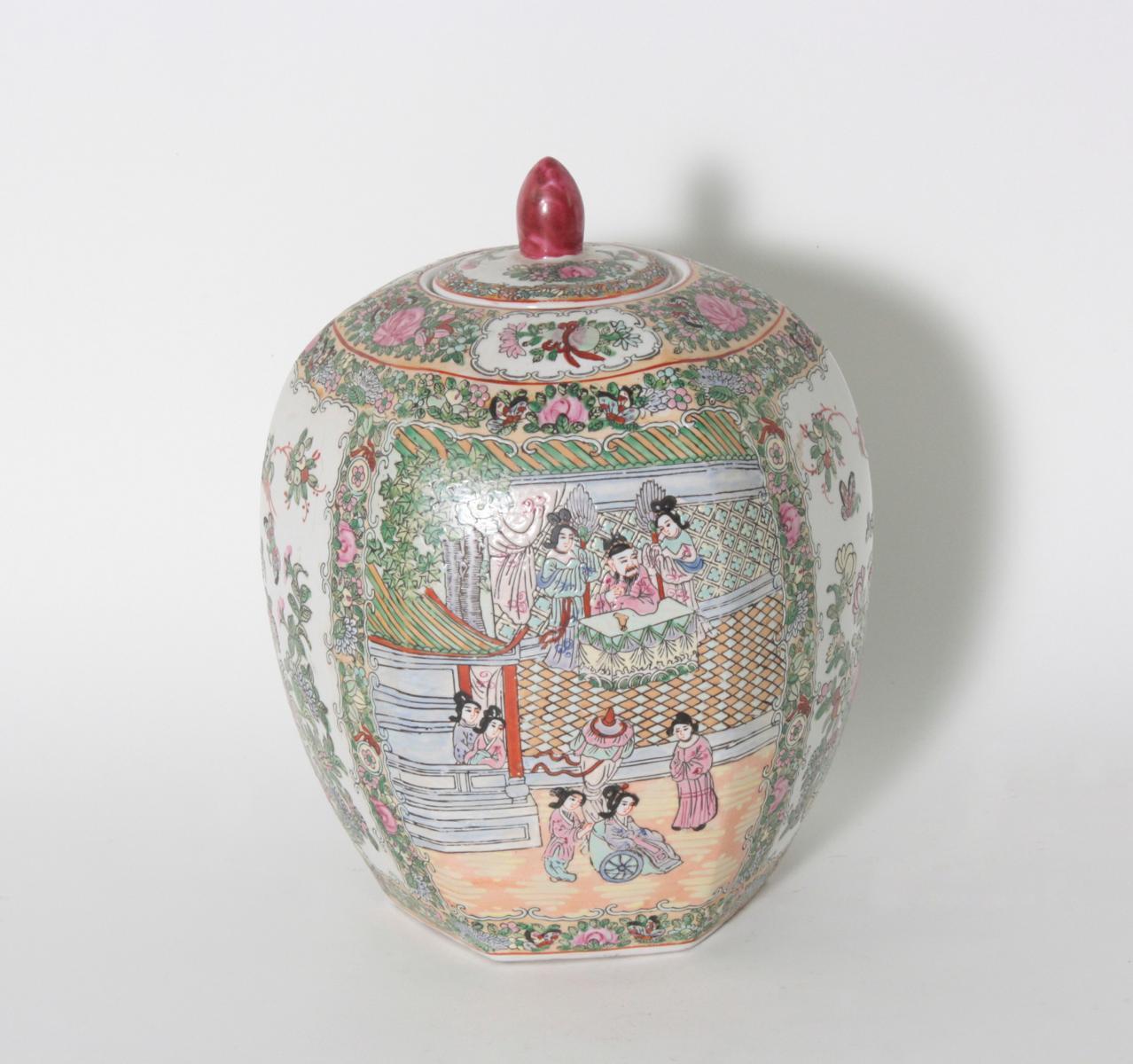 Ingwer-, Deckelvase, China, Kuang-hsi 1875-1908
