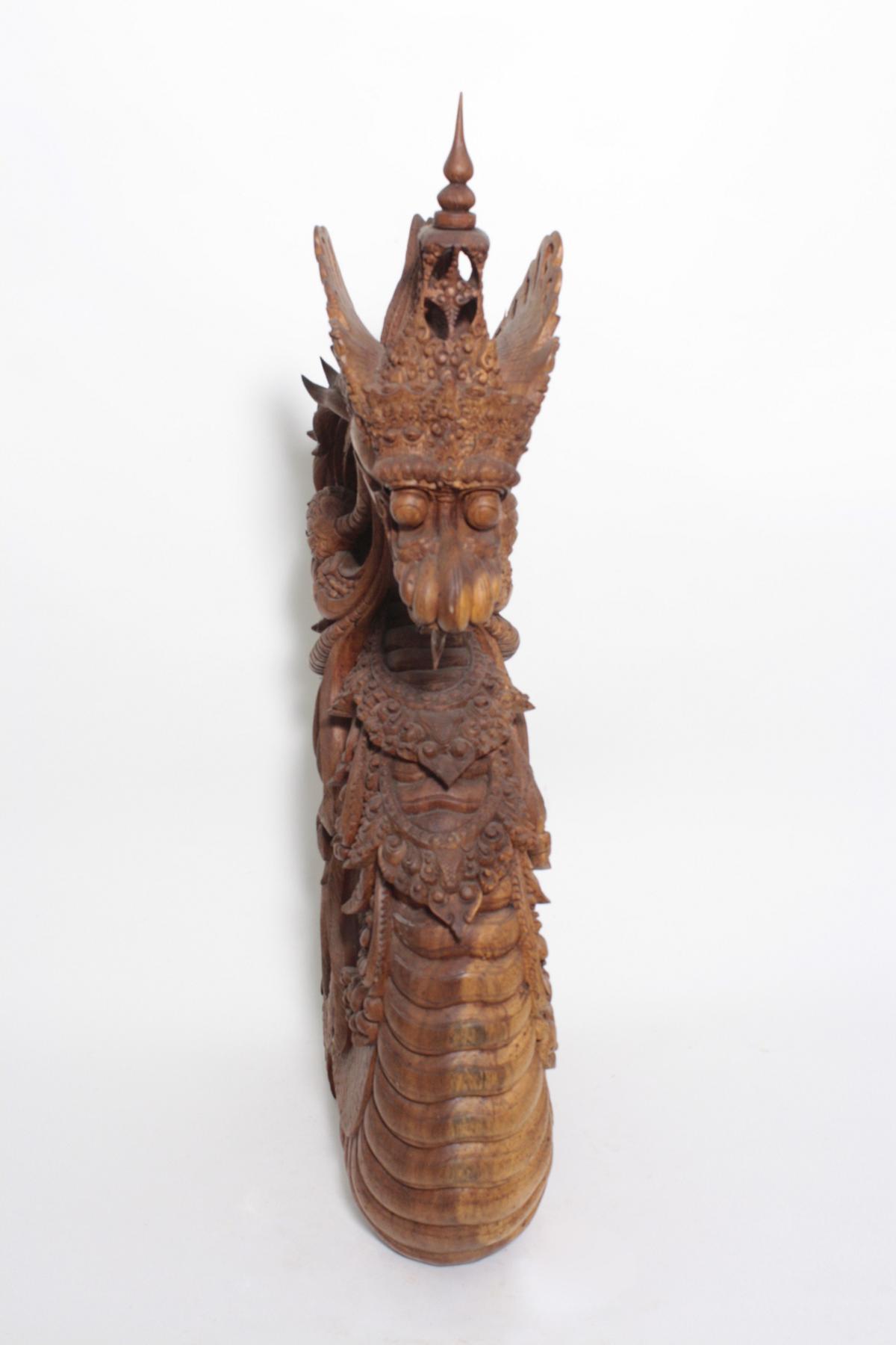 Große Holzskulptur, Drache, Indonesien, 2. Hälfte 20. Jahrhundert-2