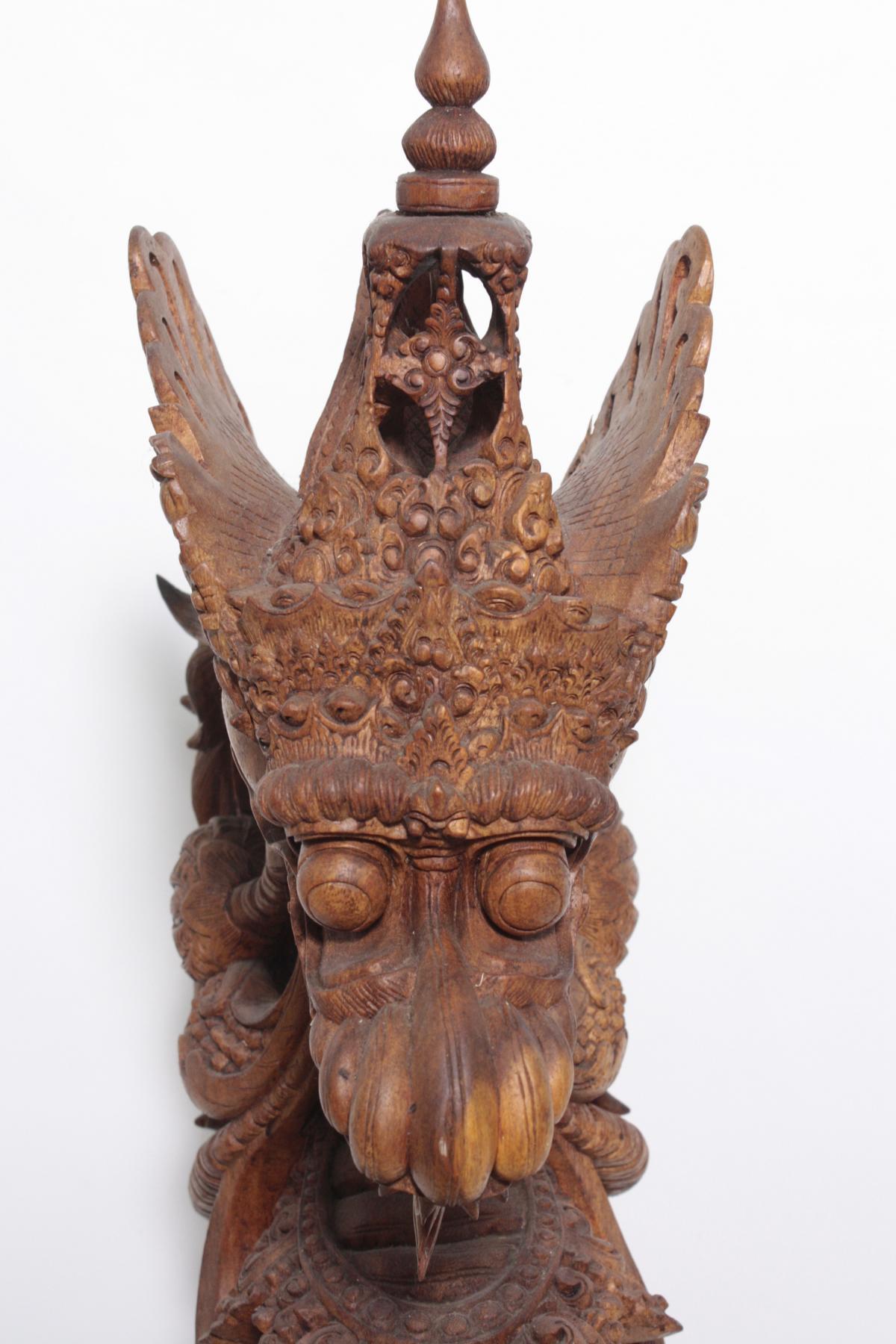 Große Holzskulptur, Drache, Indonesien, 2. Hälfte 20. Jahrhundert-3