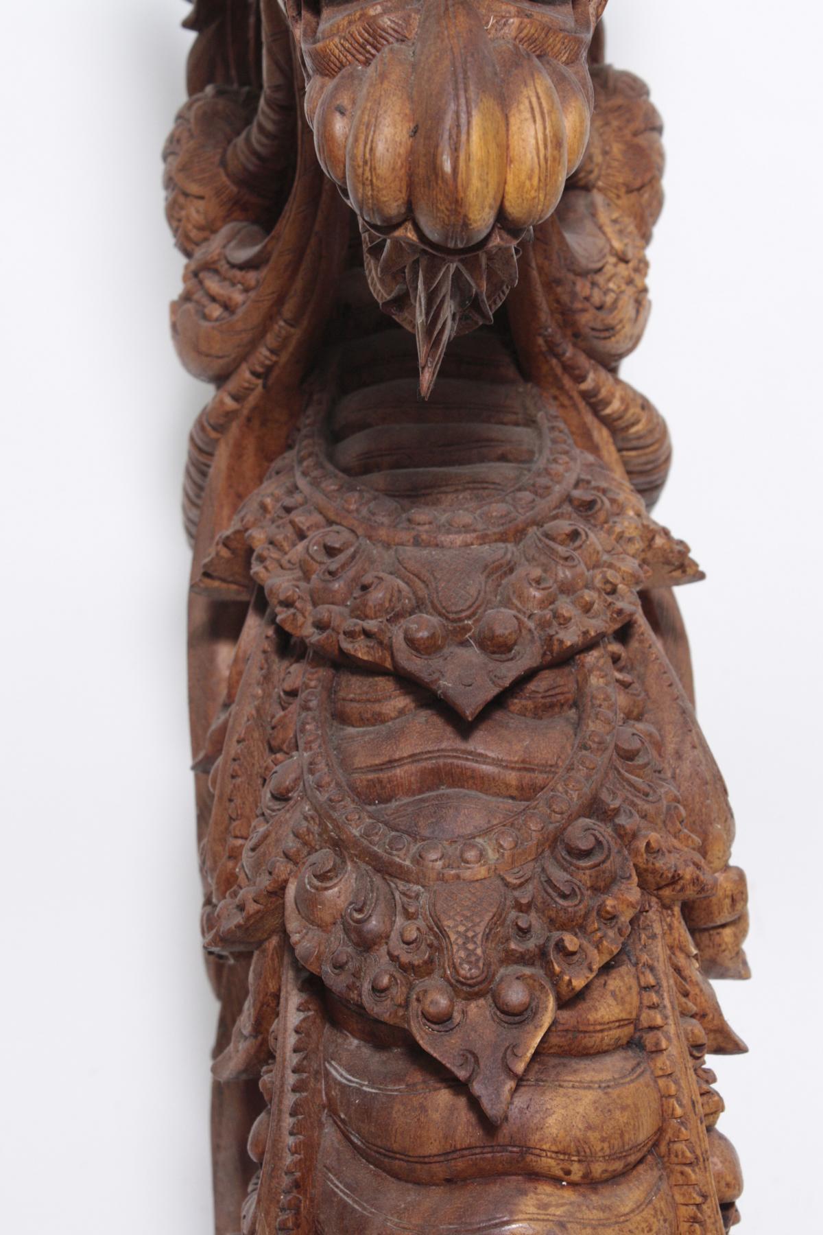 Große Holzskulptur, Drache, Indonesien, 2. Hälfte 20. Jahrhundert-4
