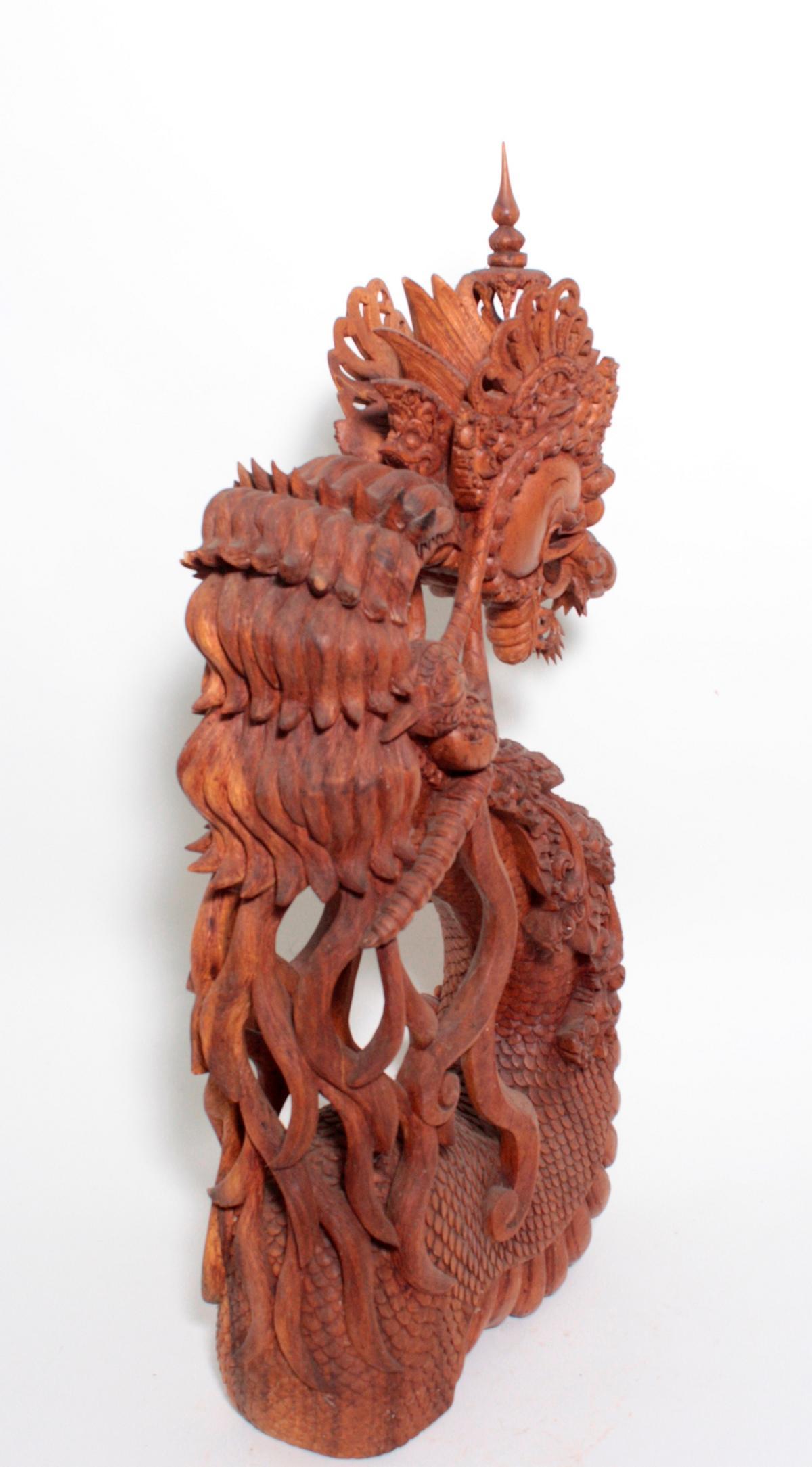Große Holzskulptur, Drache, Indonesien, 2. Hälfte 20. Jahrhundert-7