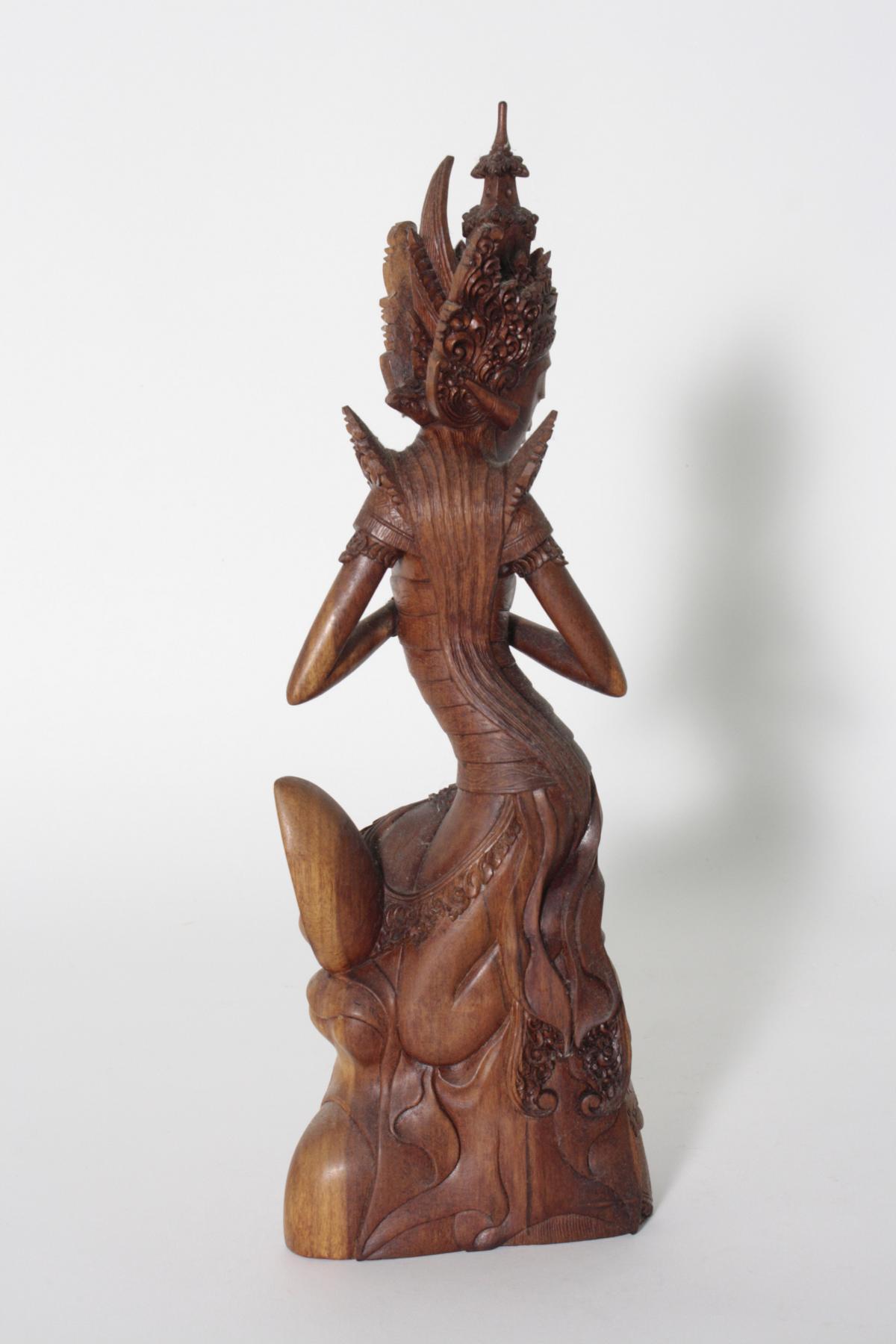 Holzskulptur, 'Dewi Sri, die Reisgöttin', Indonesien, 2. Hälfte 20. Jahrhundert-3