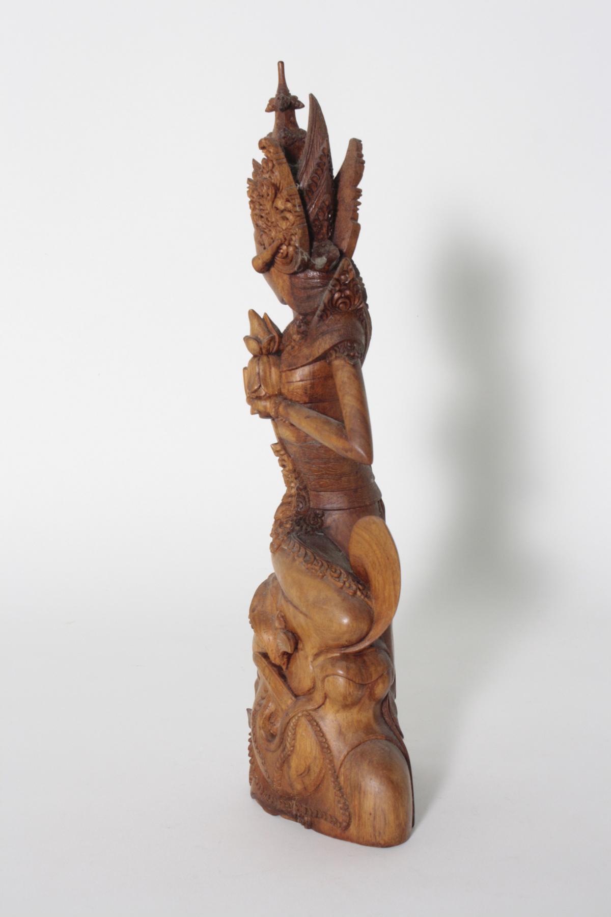 Holzskulptur, 'Dewi Sri, die Reisgöttin', Indonesien, 2. Hälfte 20. Jahrhundert-4
