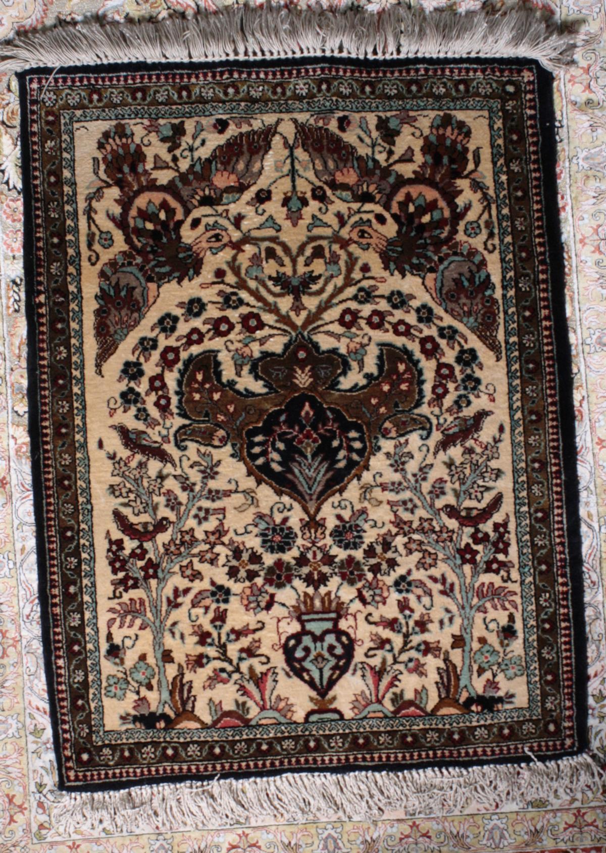 Kleiner Seiden-Ghom Teppich