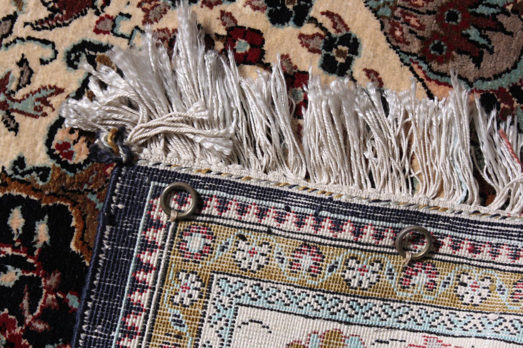 Kleiner Seiden-Ghom Teppich-2