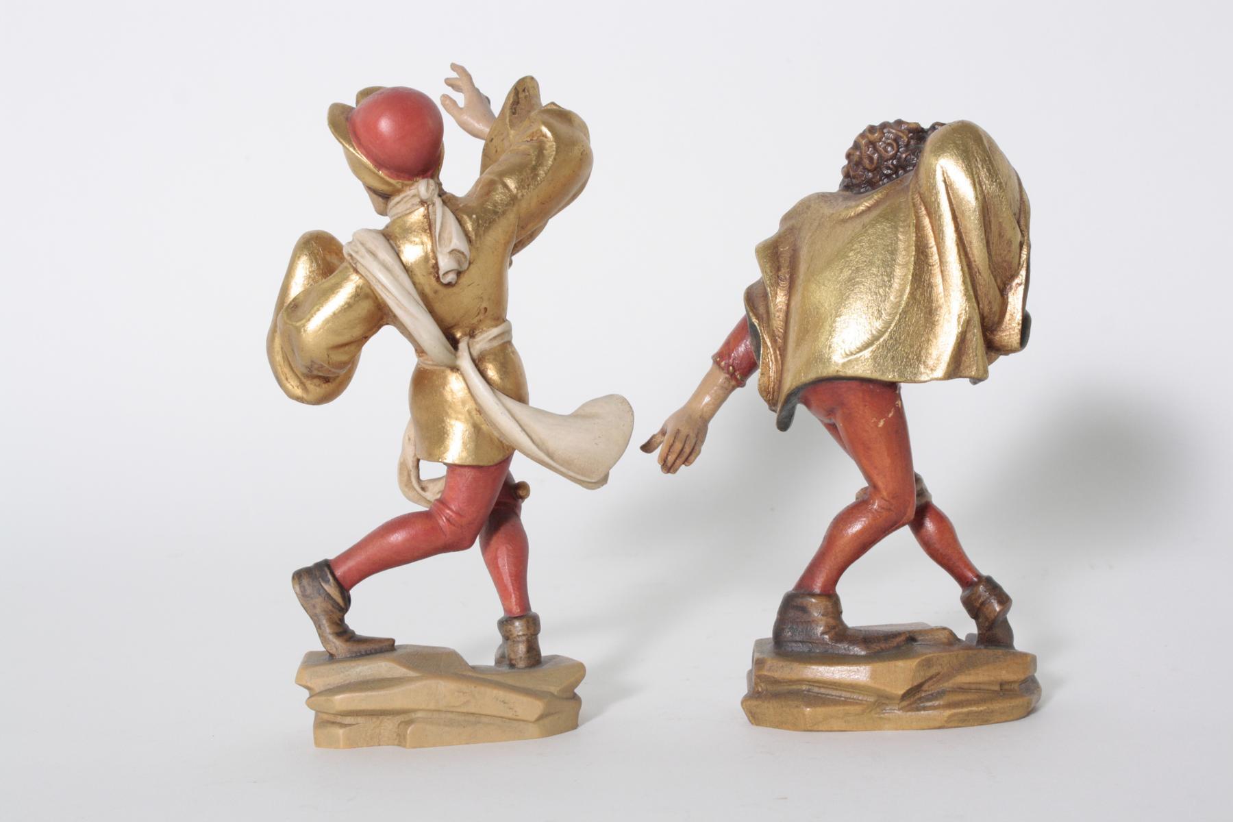 Paar Moriskentänzer aus Oberammergau, 20. Jahrhundert-2