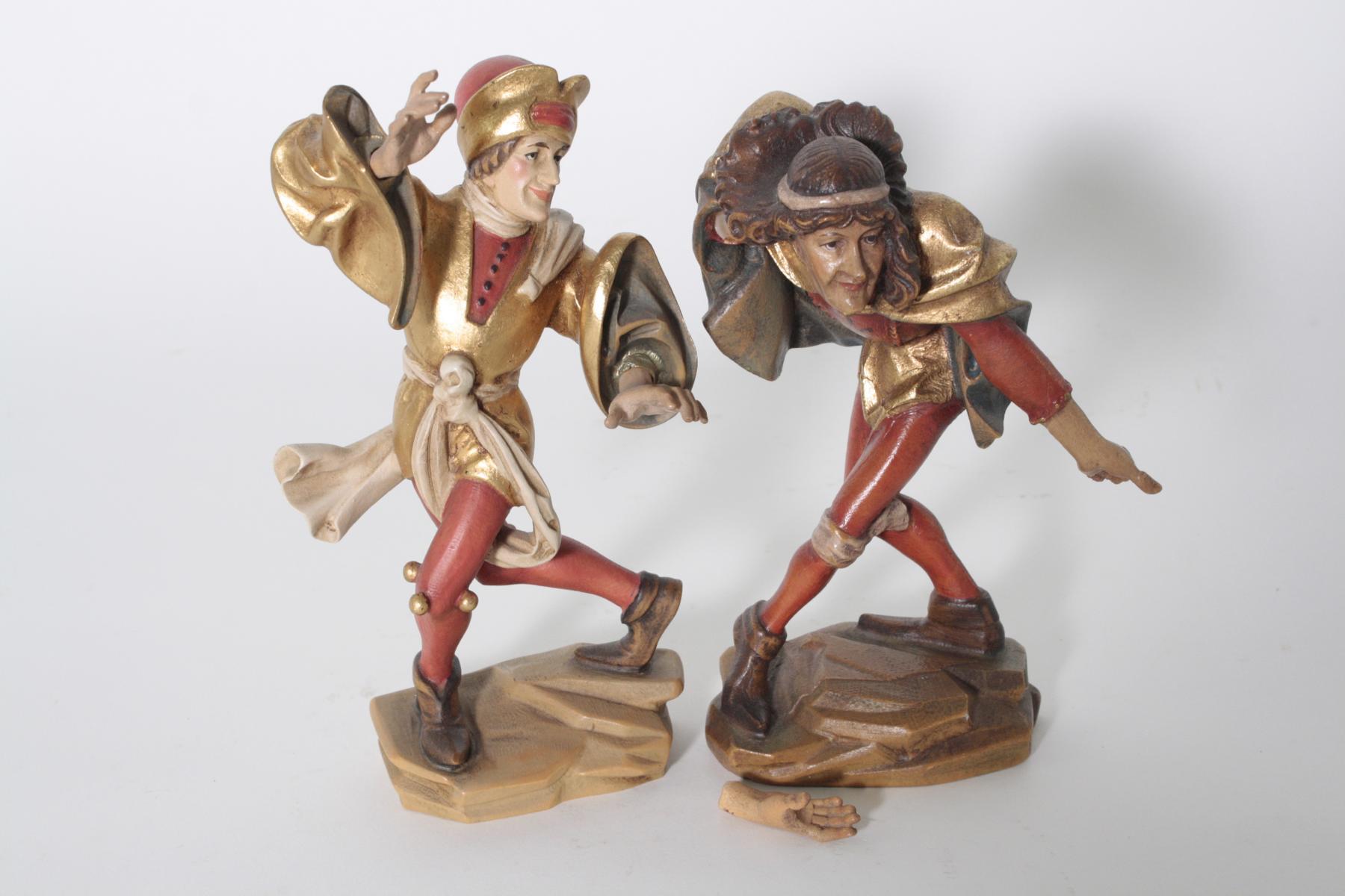 Paar Moriskentänzer aus Oberammergau, 20. Jahrhundert-3
