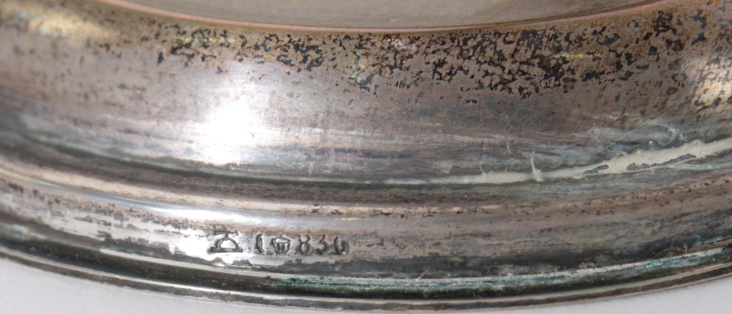 Paar zweiflammige Kerzenleuchter, 830er Silber, M. H. Wilkens & Sohne, Bremen-2