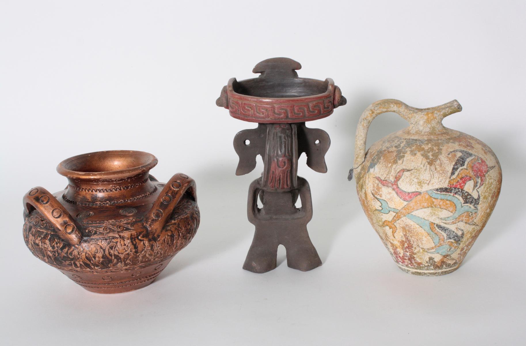 3-teiliges Konvolut Souvenirs, Replikate aus Mexiko und Griechenland-2