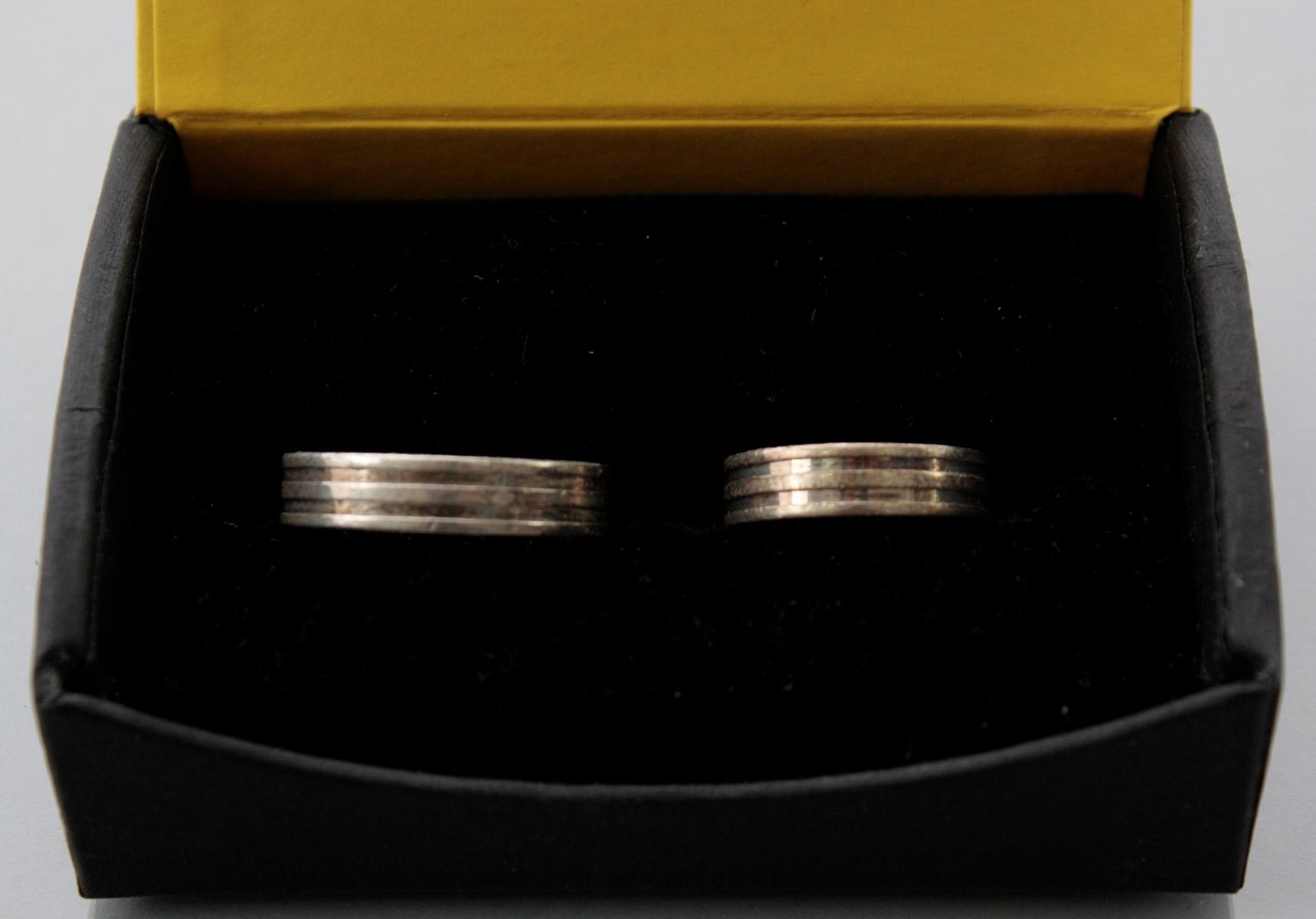 Paar Eheringe aus Sterlingsilber