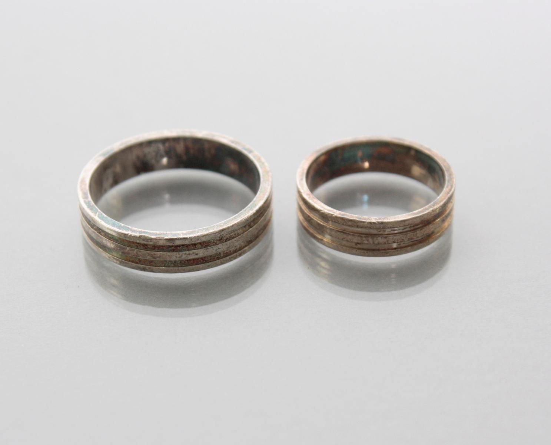 Paar Eheringe aus Sterlingsilber-2
