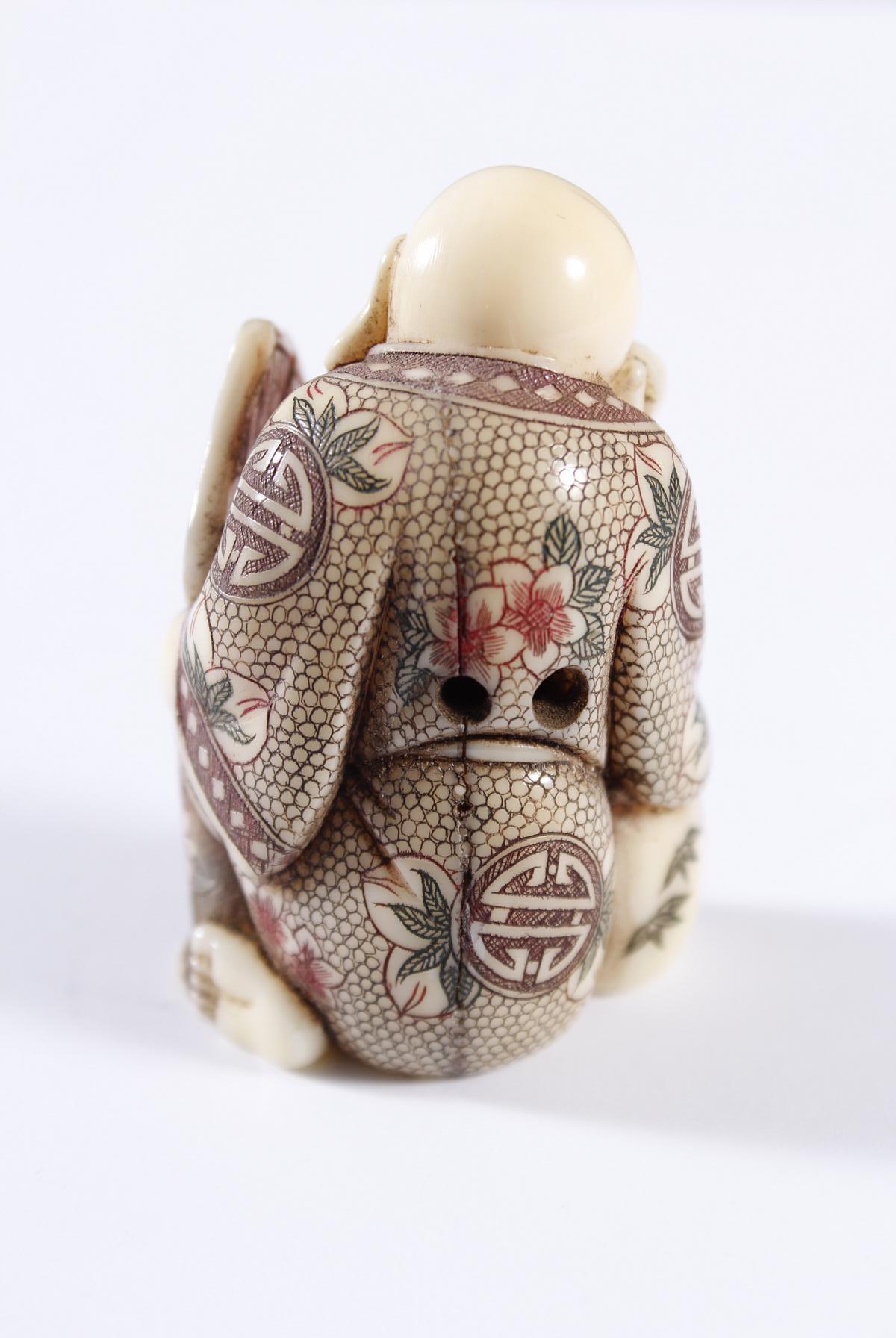 Elfenbein Netsuke, Japan, Meiji Periode-2