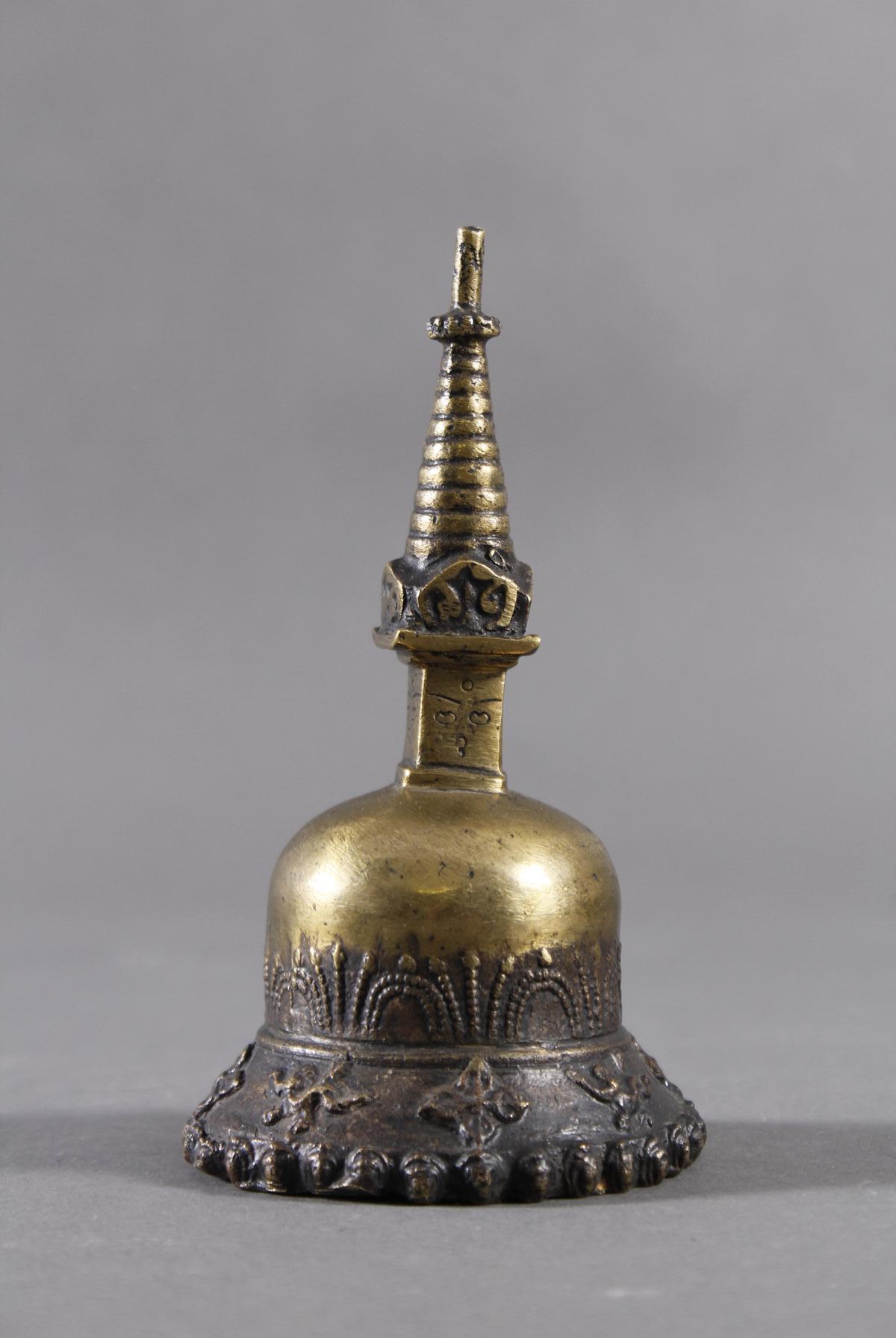 Bronze Gebetsglocke, wohl Laos 19. Jahrhundert