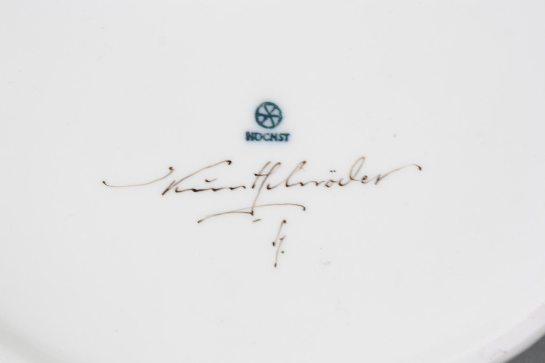 Deckeldose – Hoechst, Malersignatur Kurt Schröder-4