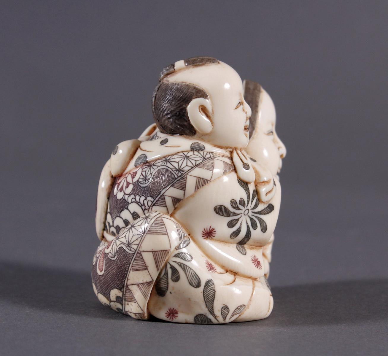 Elfenbeinfigur Okimono, Japan um 1920-4