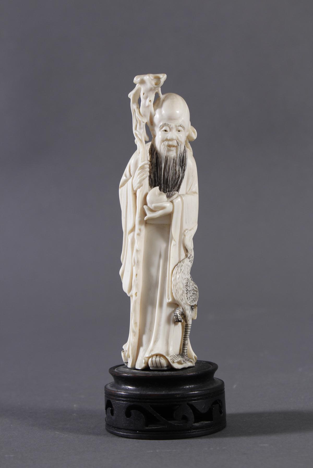 Elfenbein Figur Luohan, China um 1900