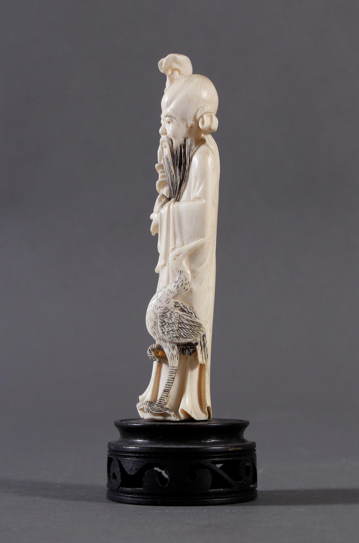 Elfenbein Figur Luohan, China um 1900-3
