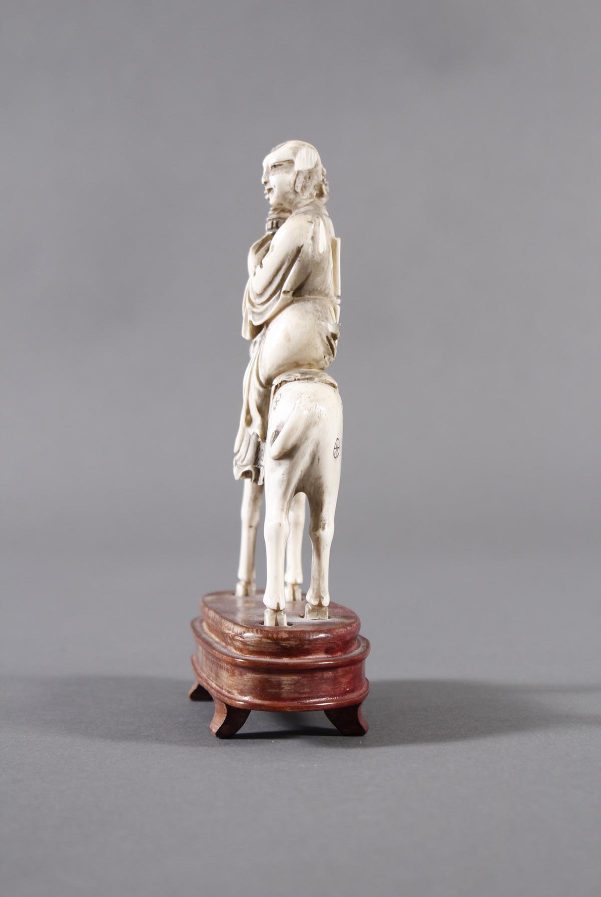 Elfenbein Figur, Unsterblicher, China 18./19. Jahrhundert-4