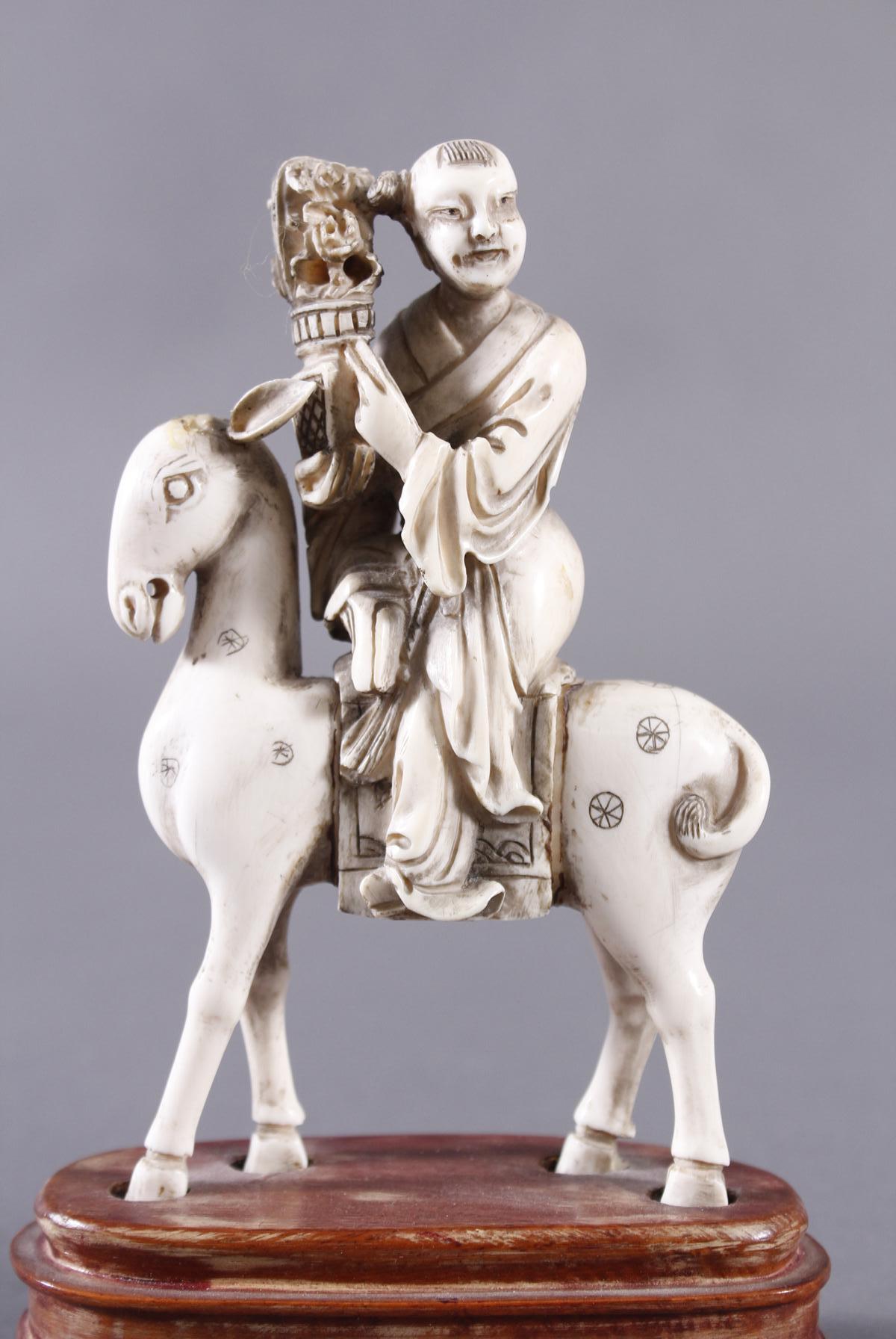 Elfenbein Figur, Unsterblicher, China 18./19. Jahrhundert-5