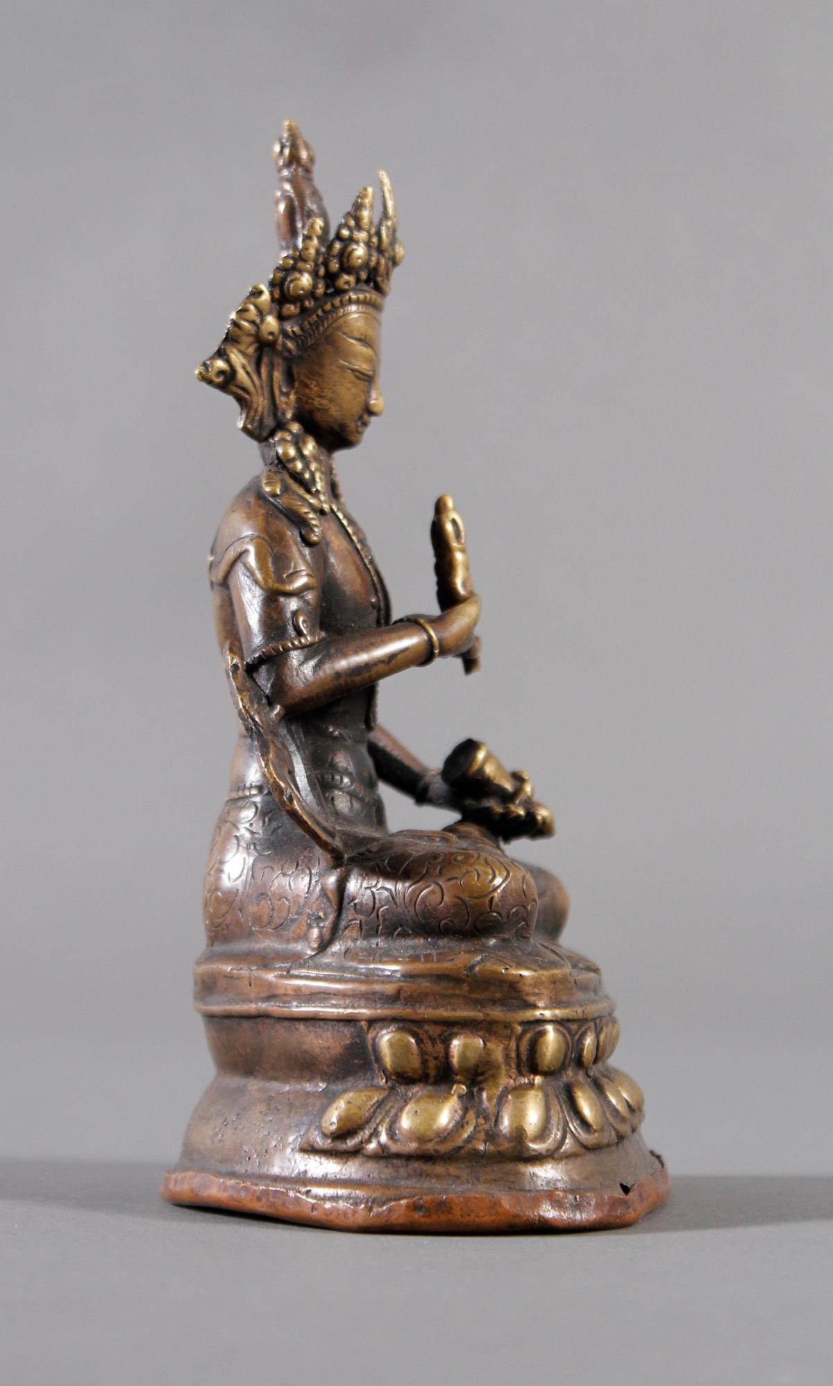 Bronze Buddha, Tibet 19. Jahrhundert-2