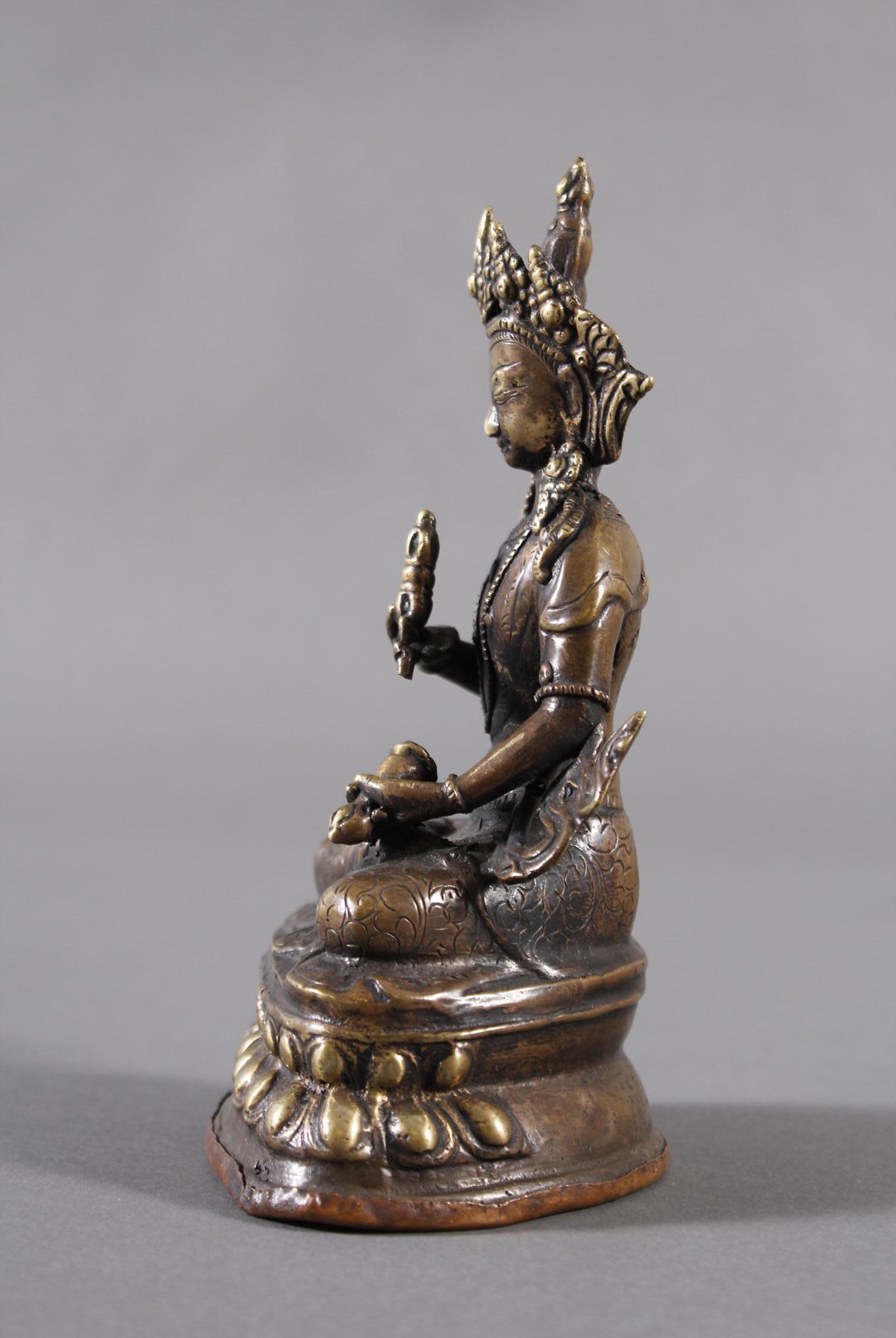 Bronze Buddha, Tibet 19. Jahrhundert-4