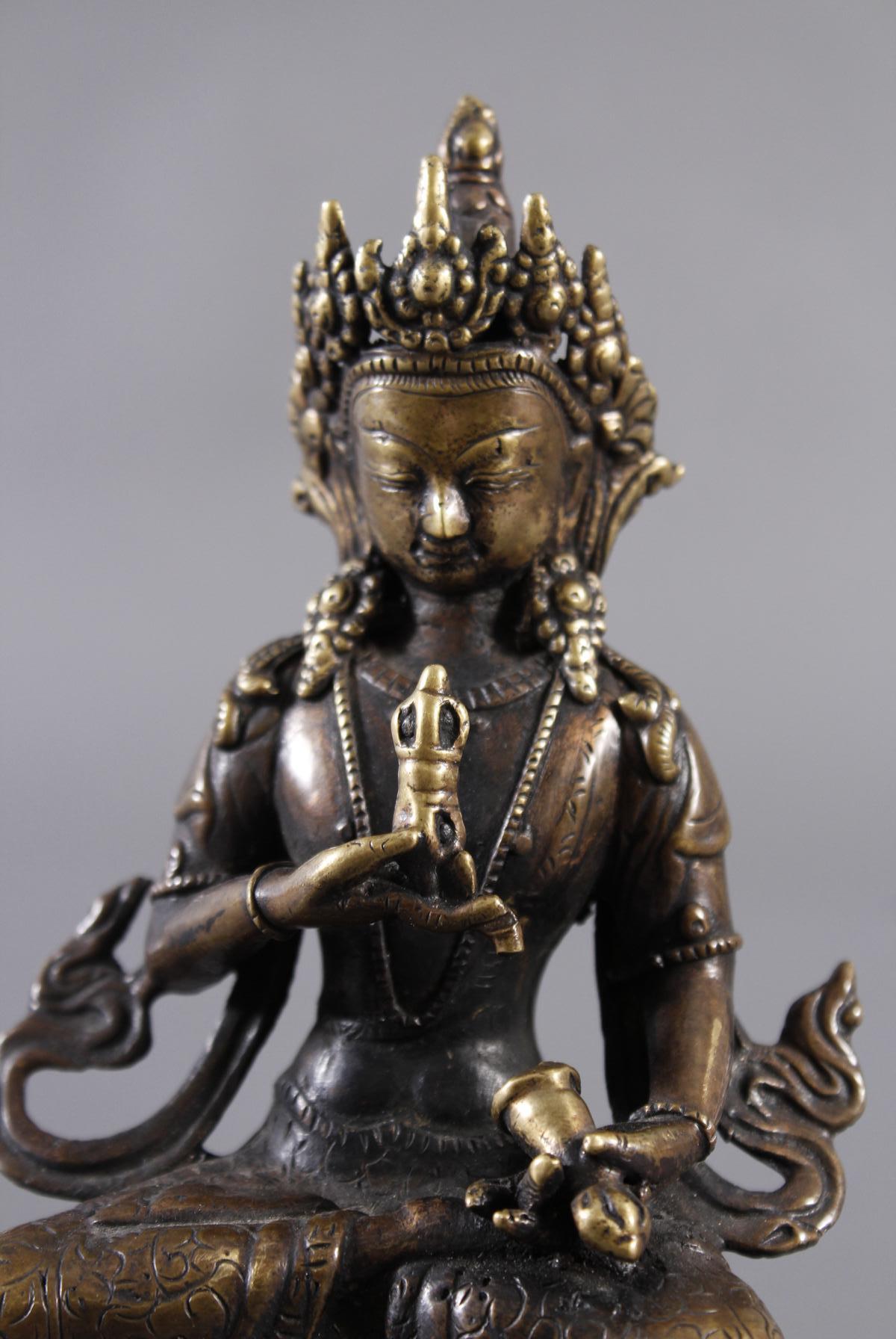 Bronze Buddha, Tibet 19. Jahrhundert-6
