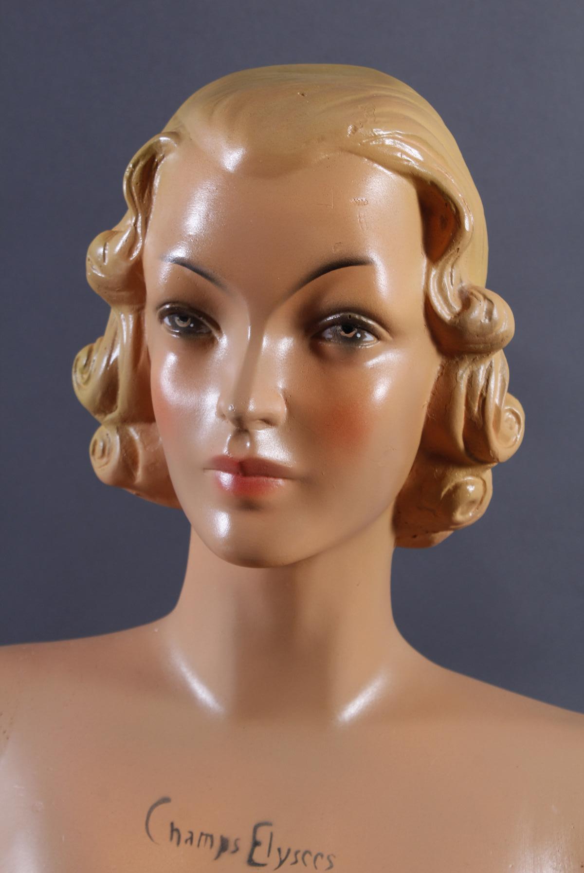 Weibliche Werbebüste, Frankreich 60er Jahre-2