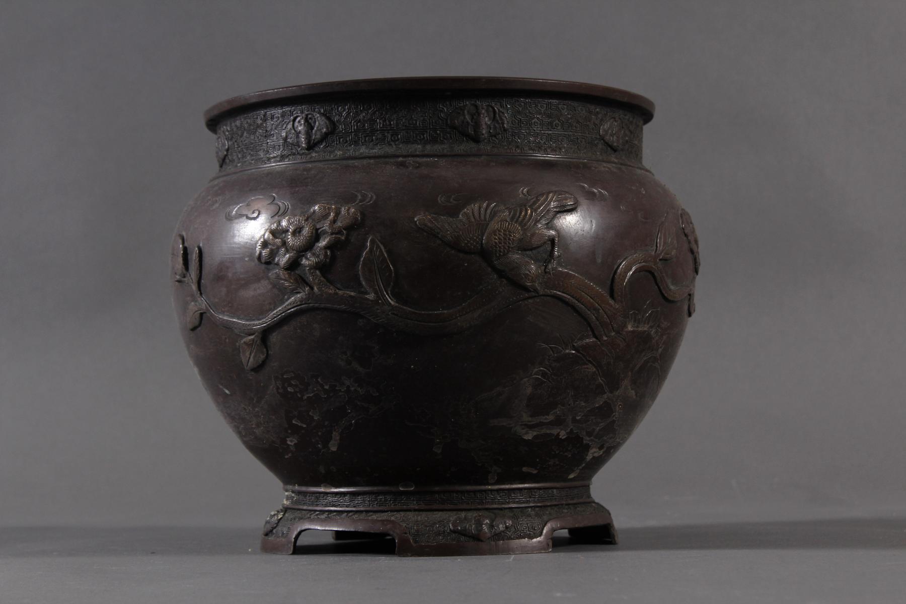 Bronze Chachepot, Japan um 1880