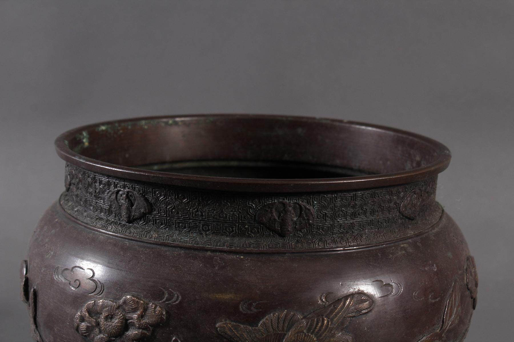 Bronze Chachepot, Japan um 1880-2