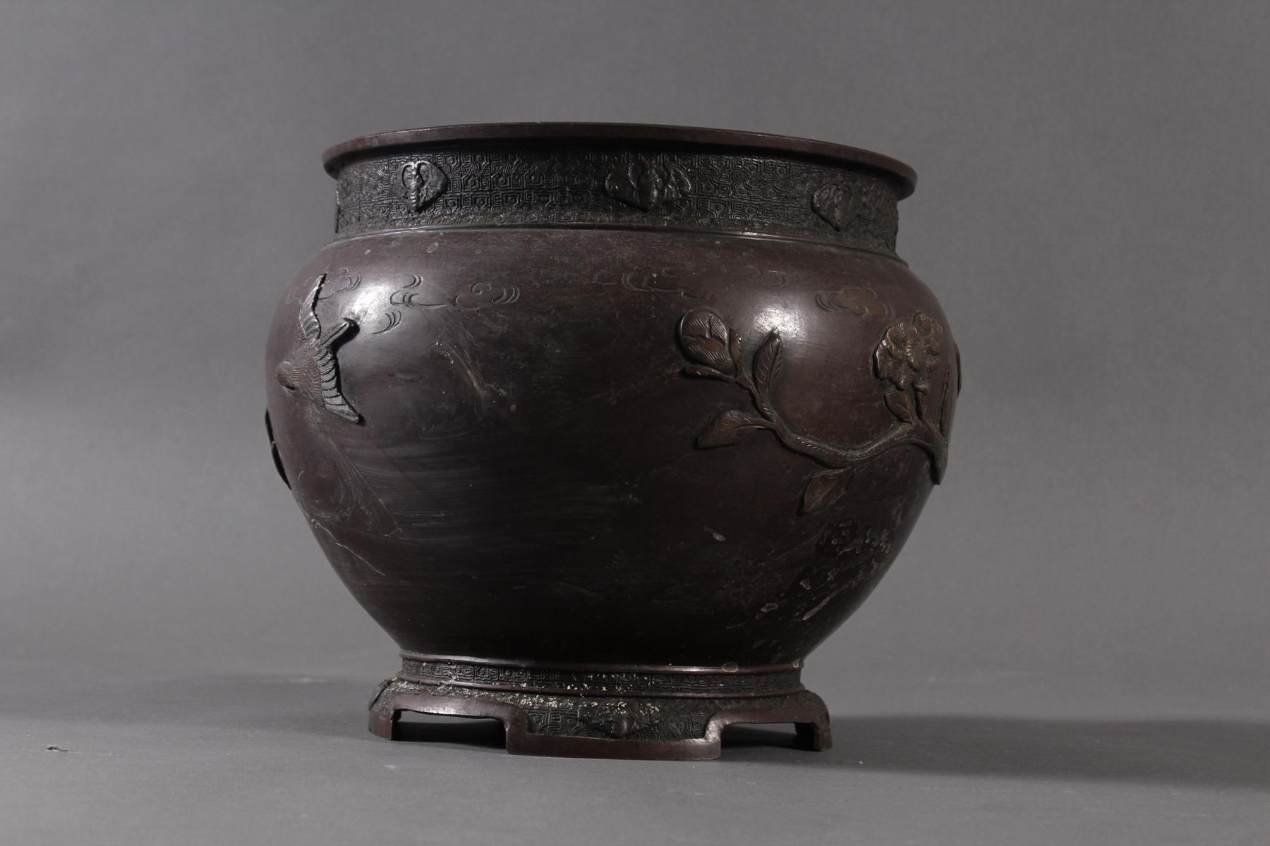 Bronze Chachepot, Japan um 1880-4