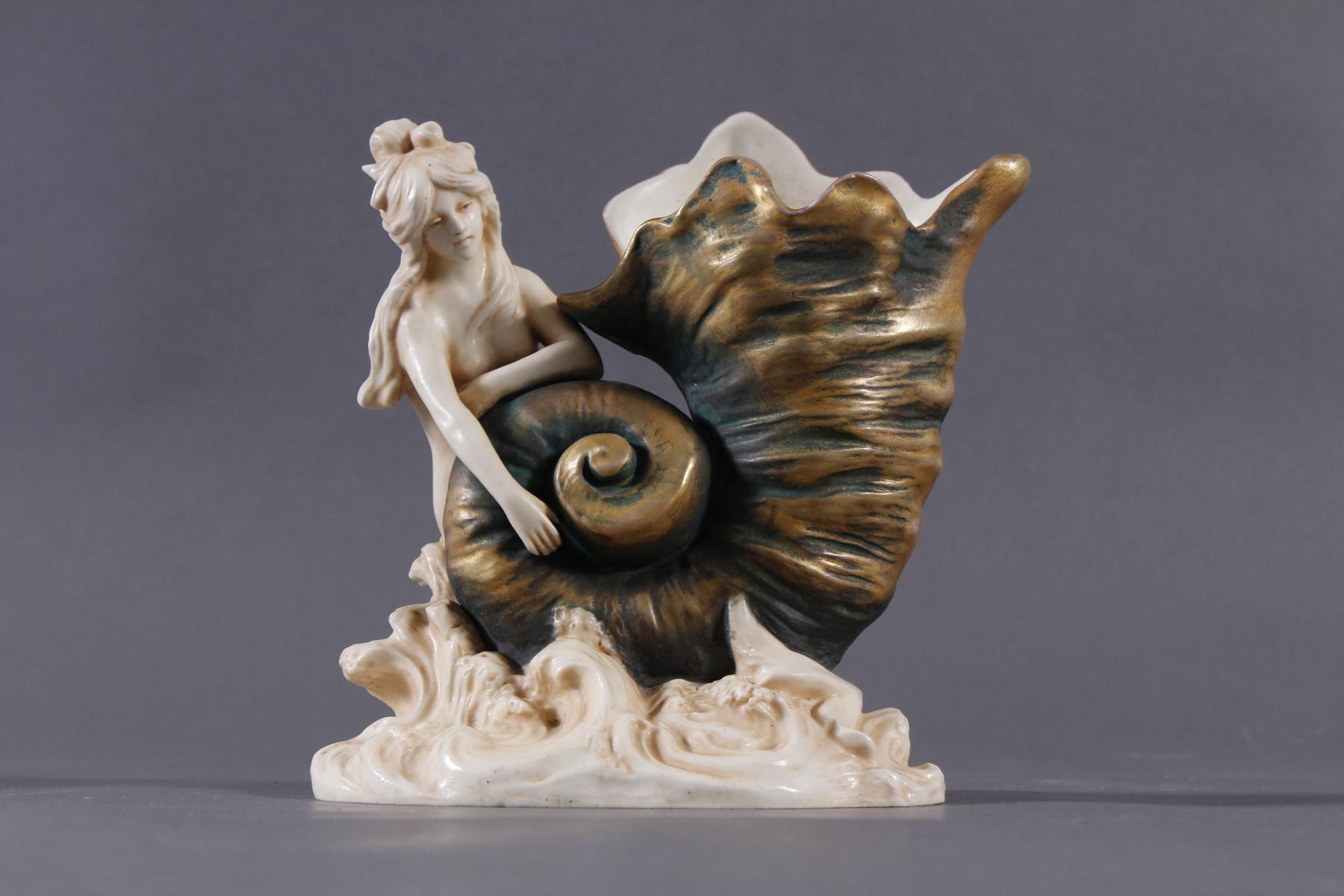 Porzellanfigurenvase, Jugendstil