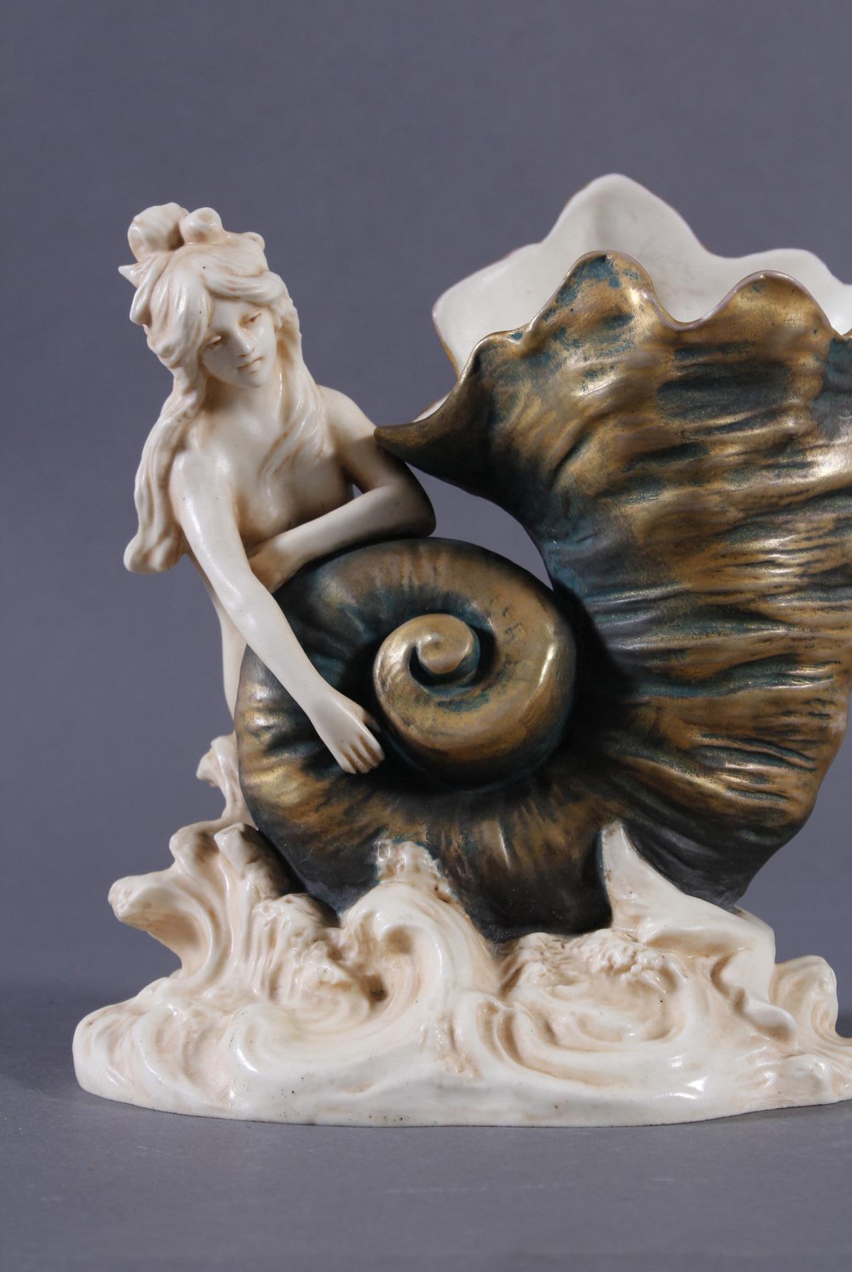 Porzellanfigurenvase, Jugendstil-2