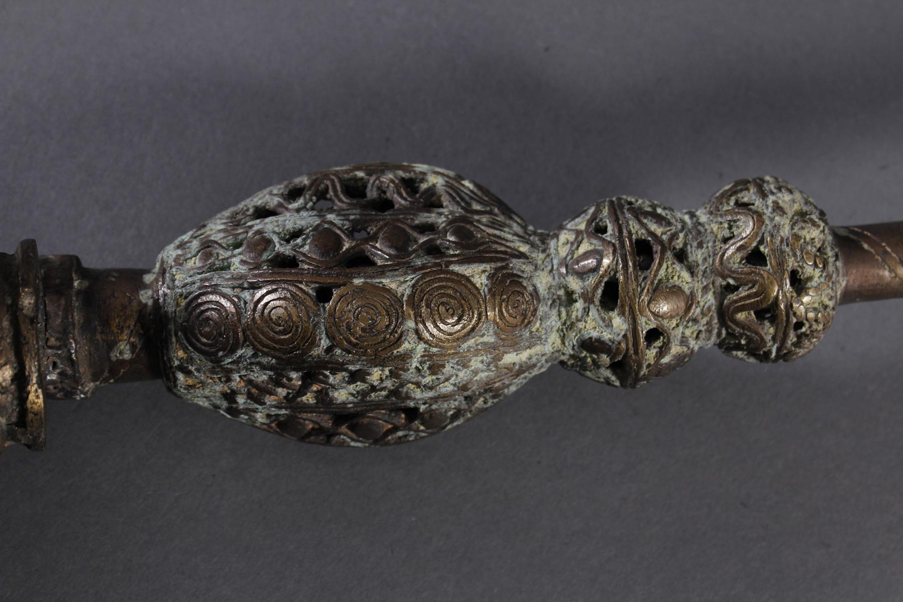 Bronze Zierpfeife, Bafum / Kamerun 20.- Jh--3