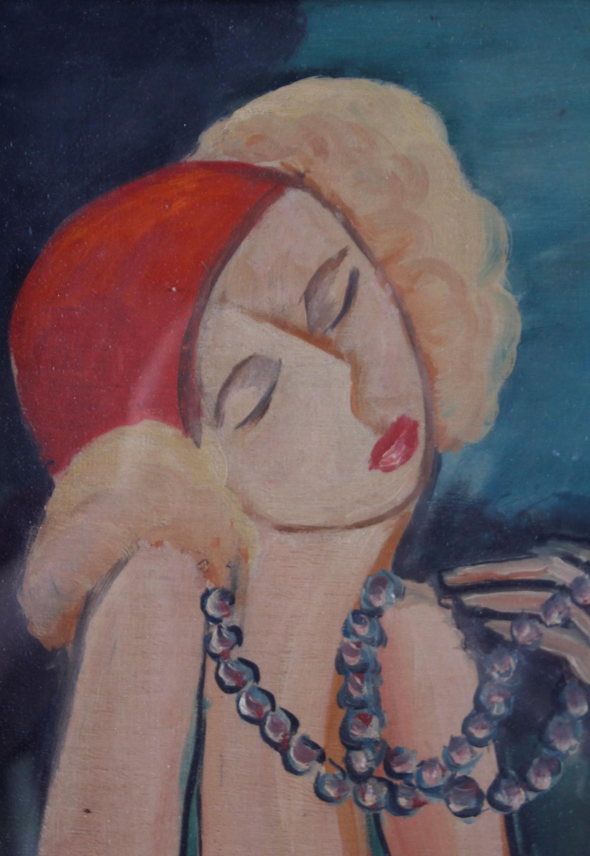 Gemälde: 2 Freundinnen, um 1930-3