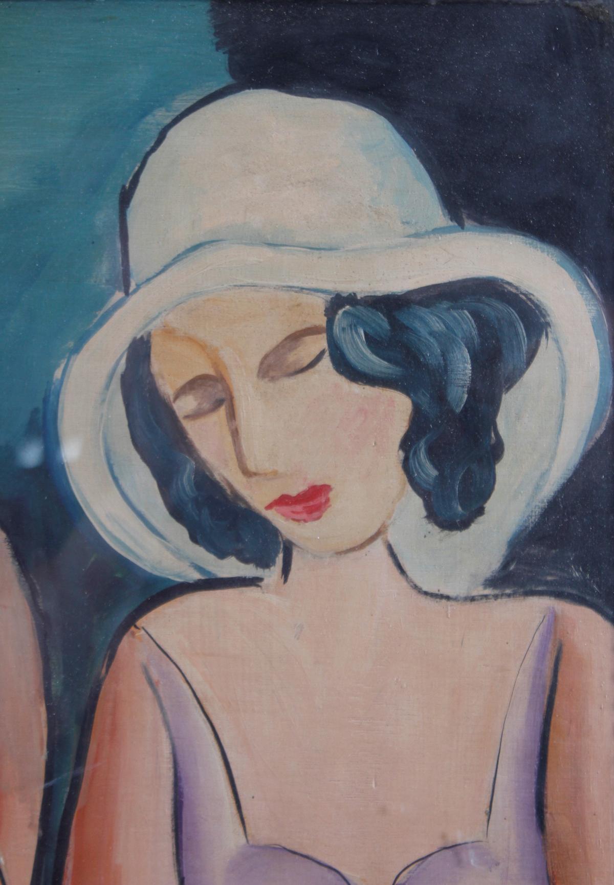 Gemälde: 2 Freundinnen, um 1930-4