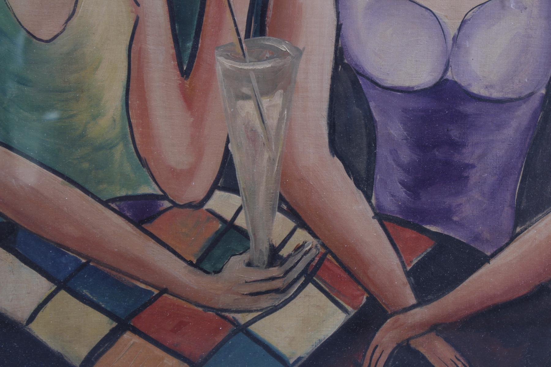 Gemälde: 2 Freundinnen, um 1930-5