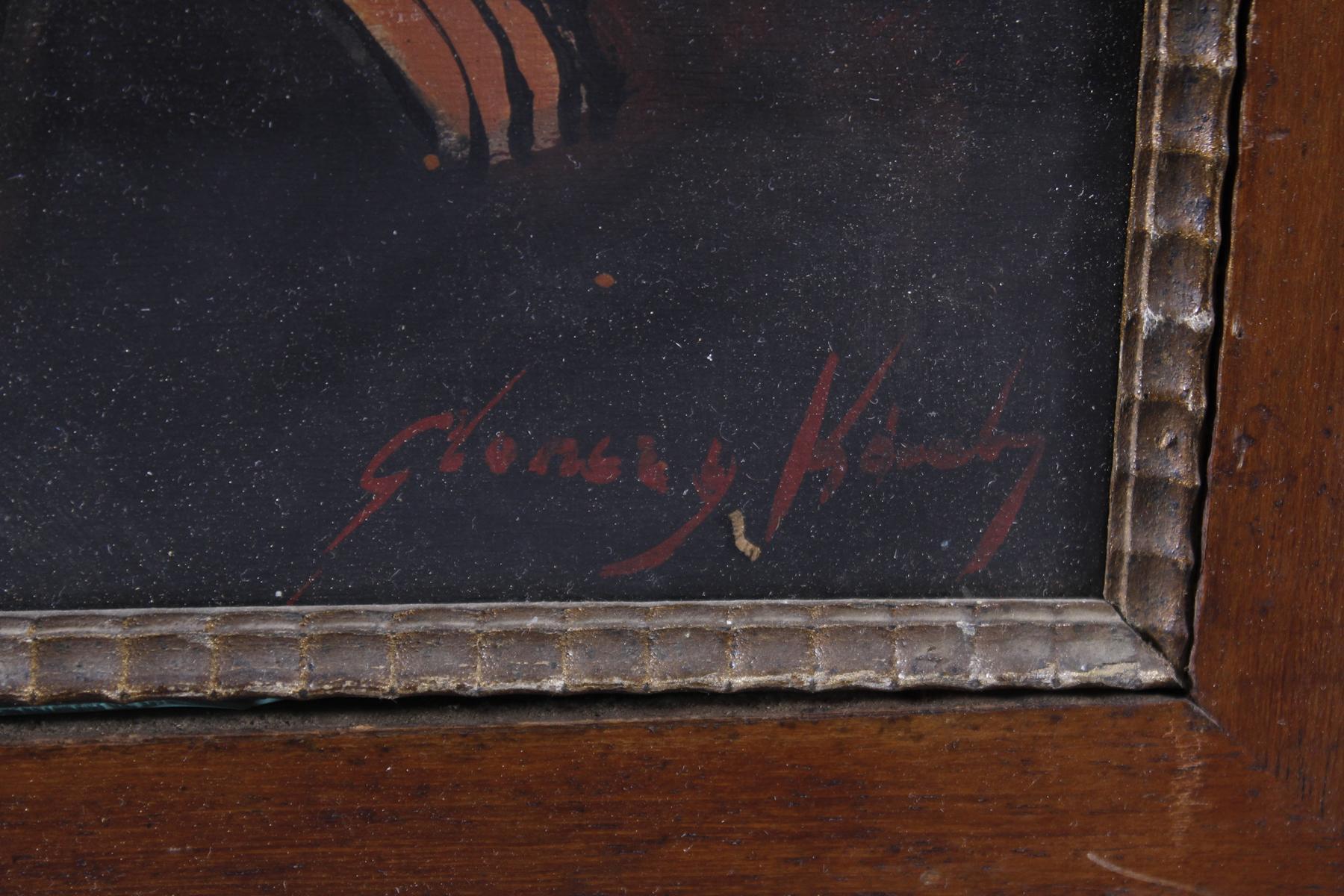 Gemälde: 2 Freundinnen, um 1930-6