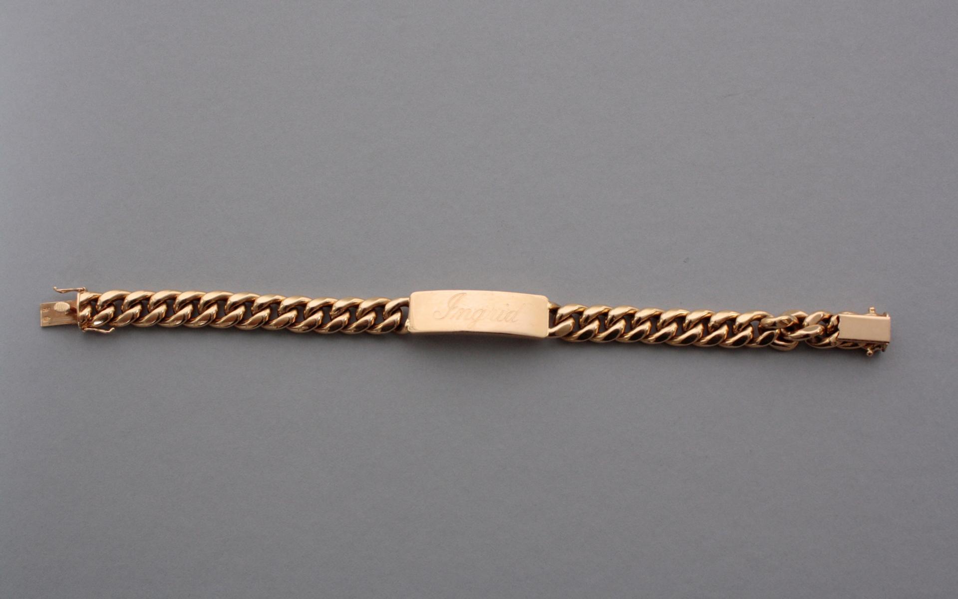 Armband mit Gravur, 18 Karat Gelbgold